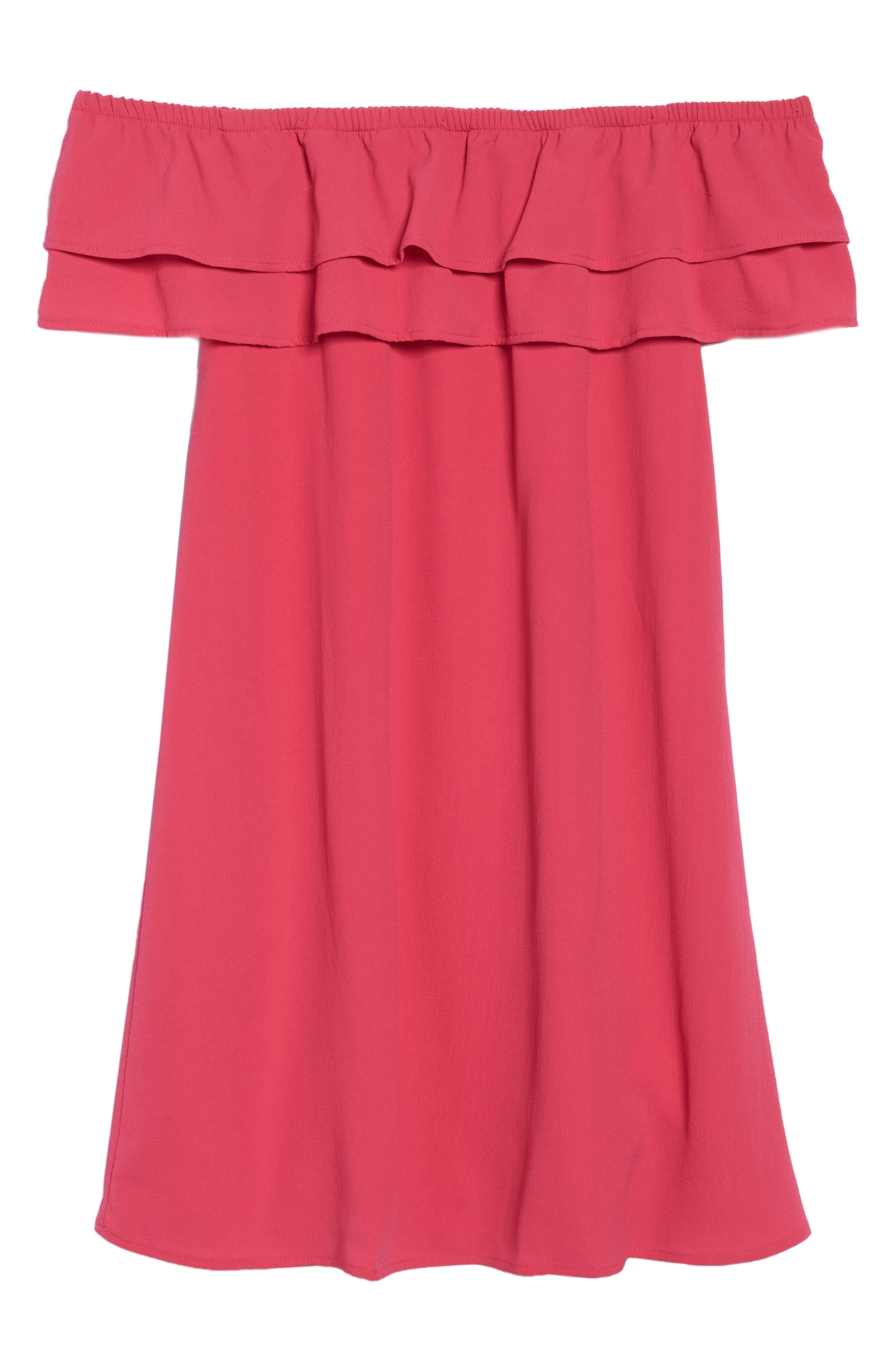 Off the Shoulder Ruffle Dress,                             Alternate thumbnail 47, color,