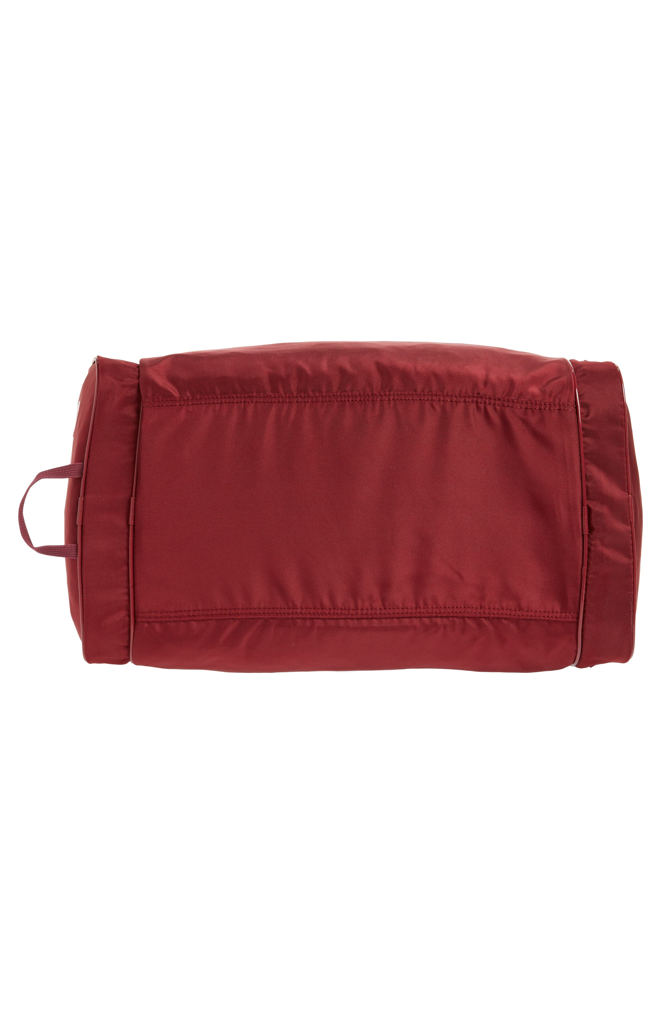 adidas Original Santiago Duffel Bag,                             Alternate thumbnail 6, color,                             COLLEGIATE BURGUNDY/ WHITE