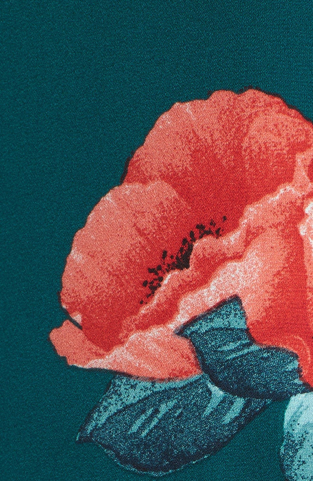 Floral Print Minidress,                             Alternate thumbnail 6, color,                             400