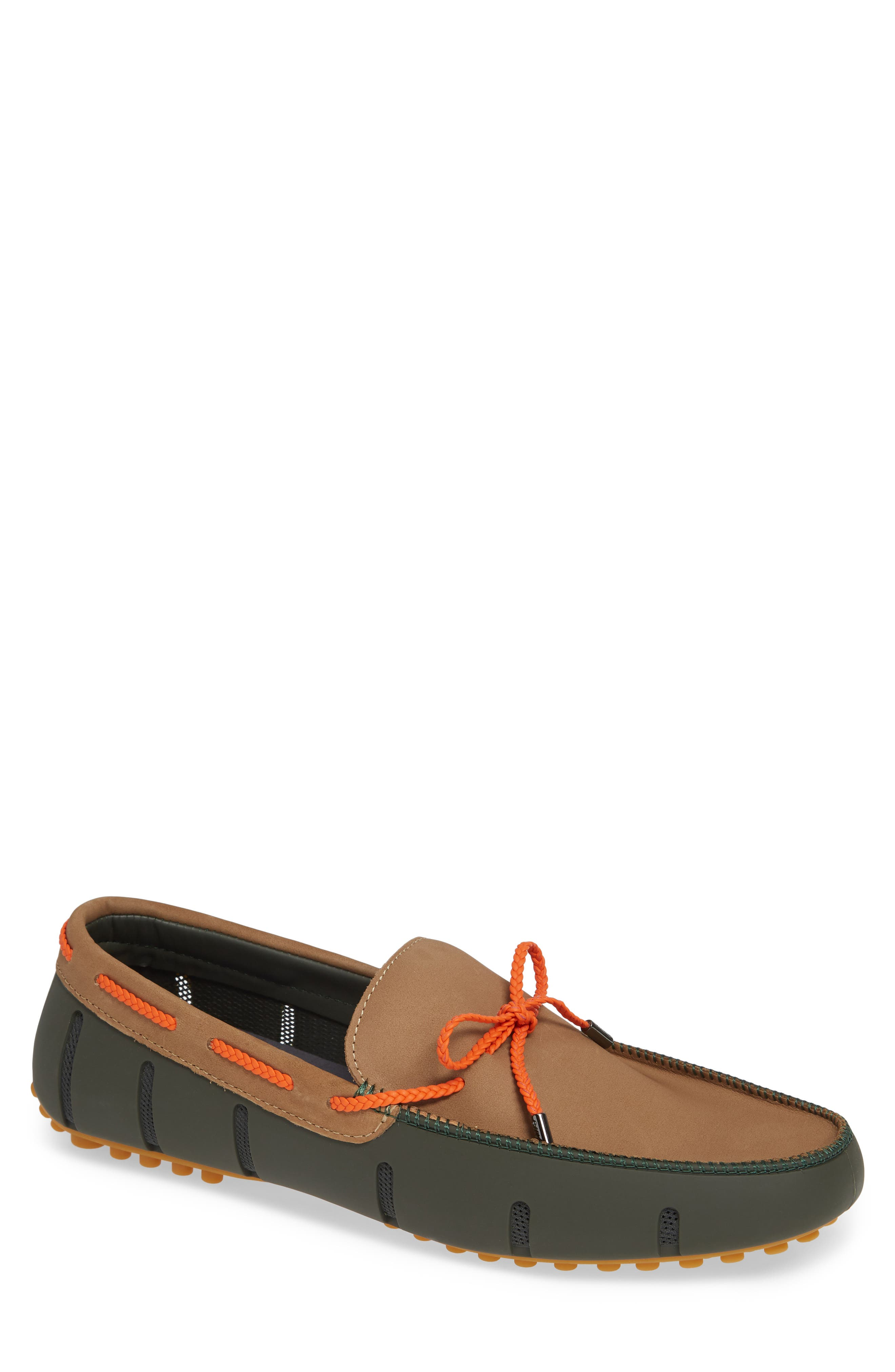 SWIMS Lux Driving Loafer, Main, color, OLIVE/ GAUCHO/ GUM