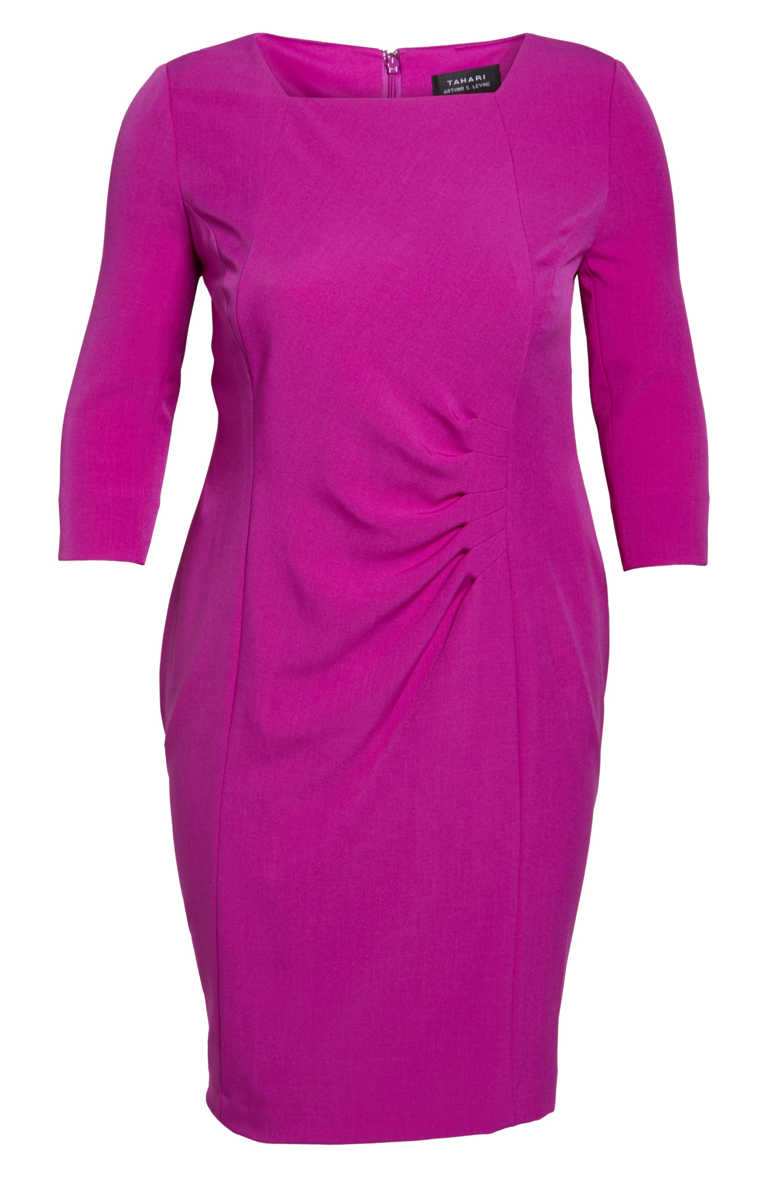 Ruched Sheath Dress,                             Alternate thumbnail 6, color,                             501