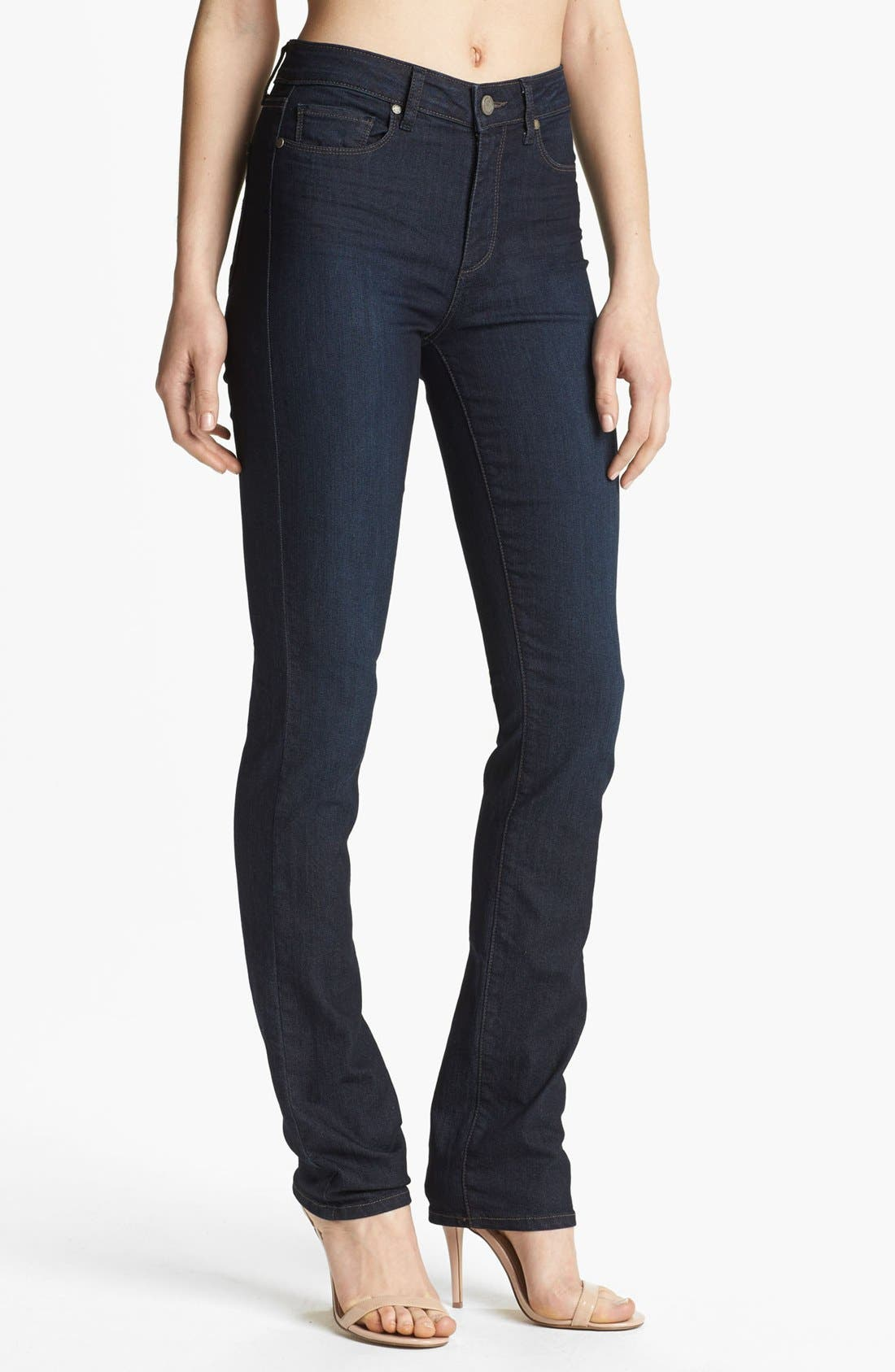 Denim 'Hoxton' High Rise Straight Leg Jeans, Main, color, 400