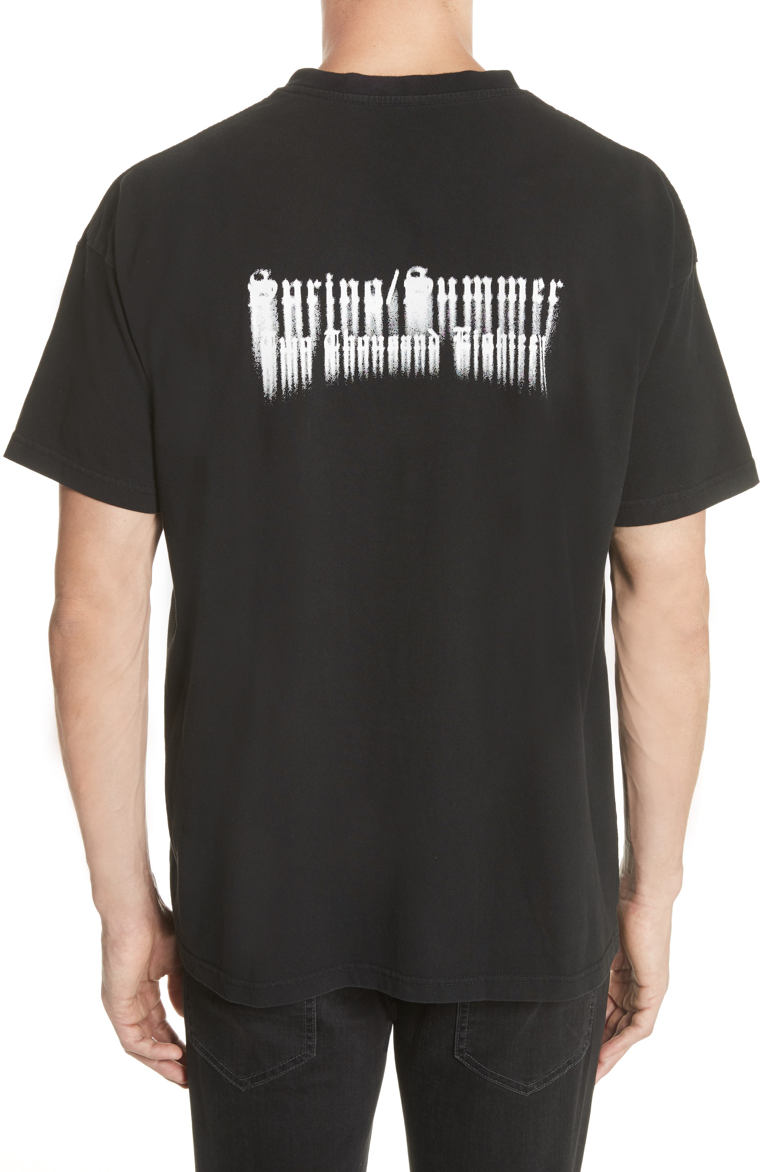 Bleached Dreams Graphic T-Shirt,                             Alternate thumbnail 2, color,                             001