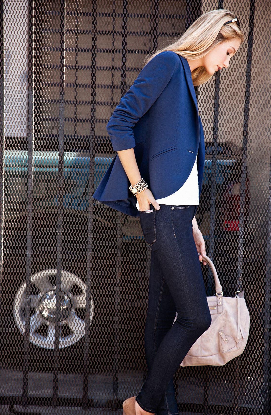 'Nico' Mid Rise Super Skinny Jeans,                             Alternate thumbnail 4, color,