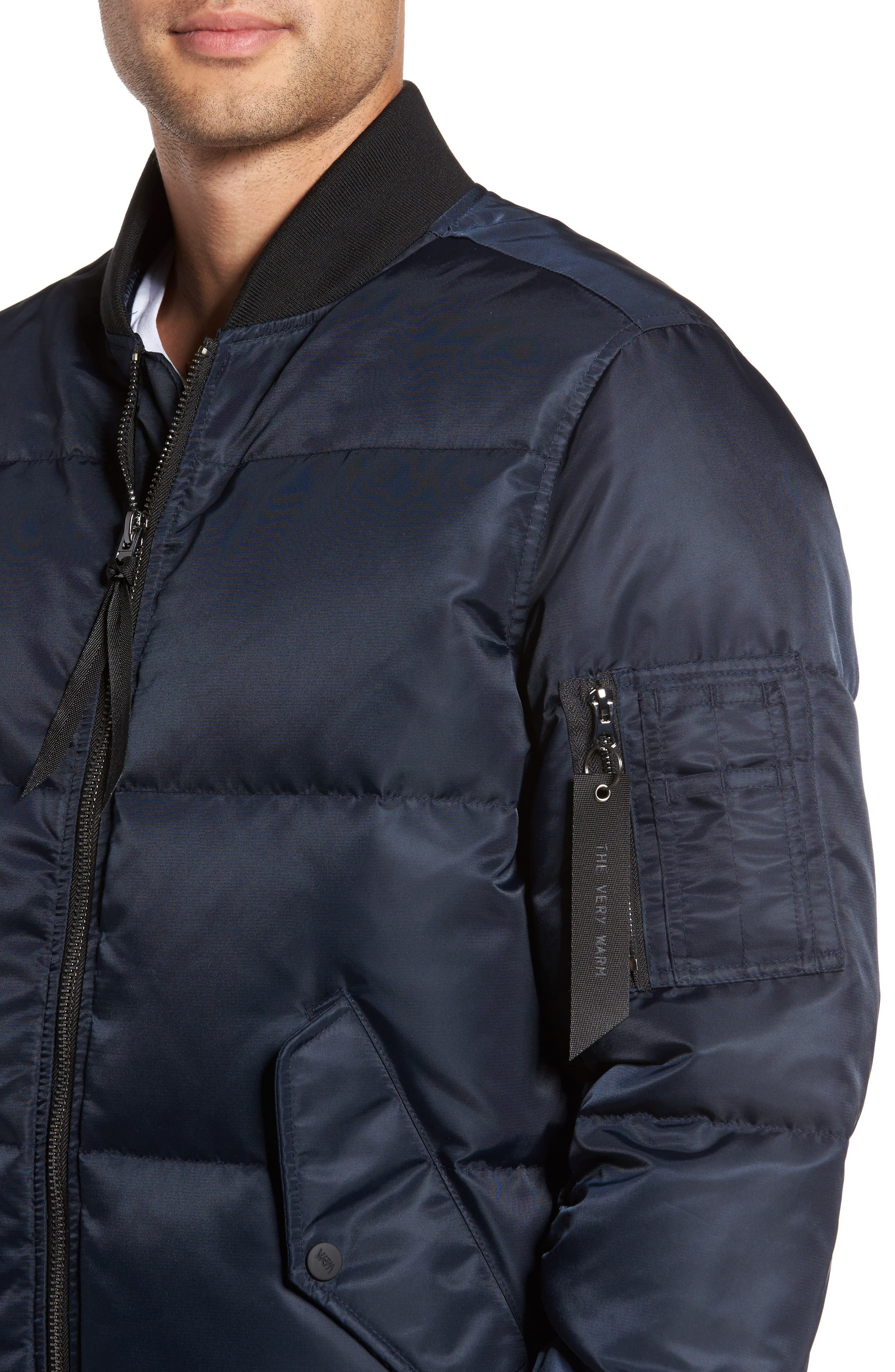 Quilted Down Bomber Jacket,                             Alternate thumbnail 15, color,