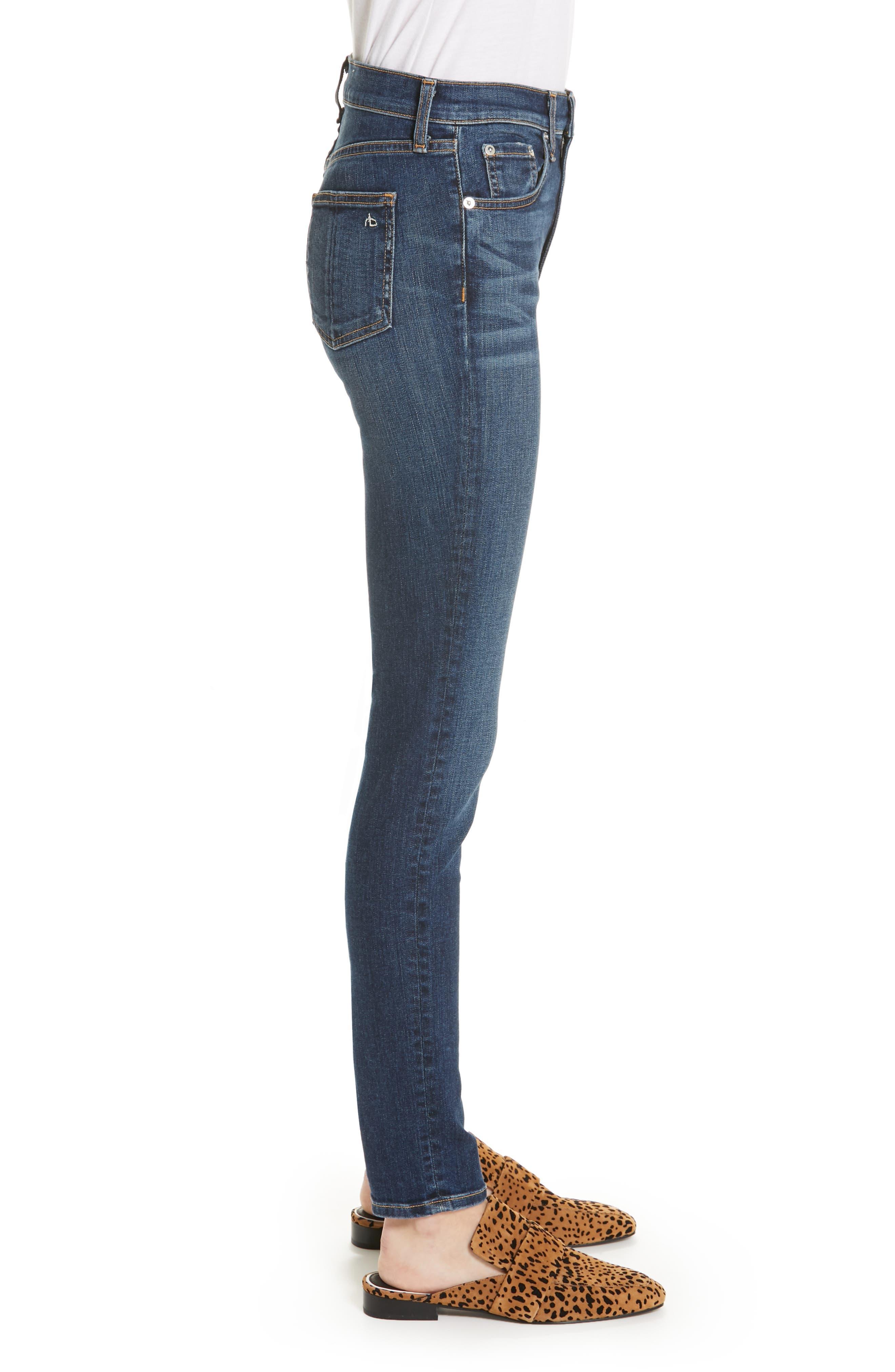 Ripped High Waist Skinny Jeans,                             Alternate thumbnail 3, color,                             ELTON