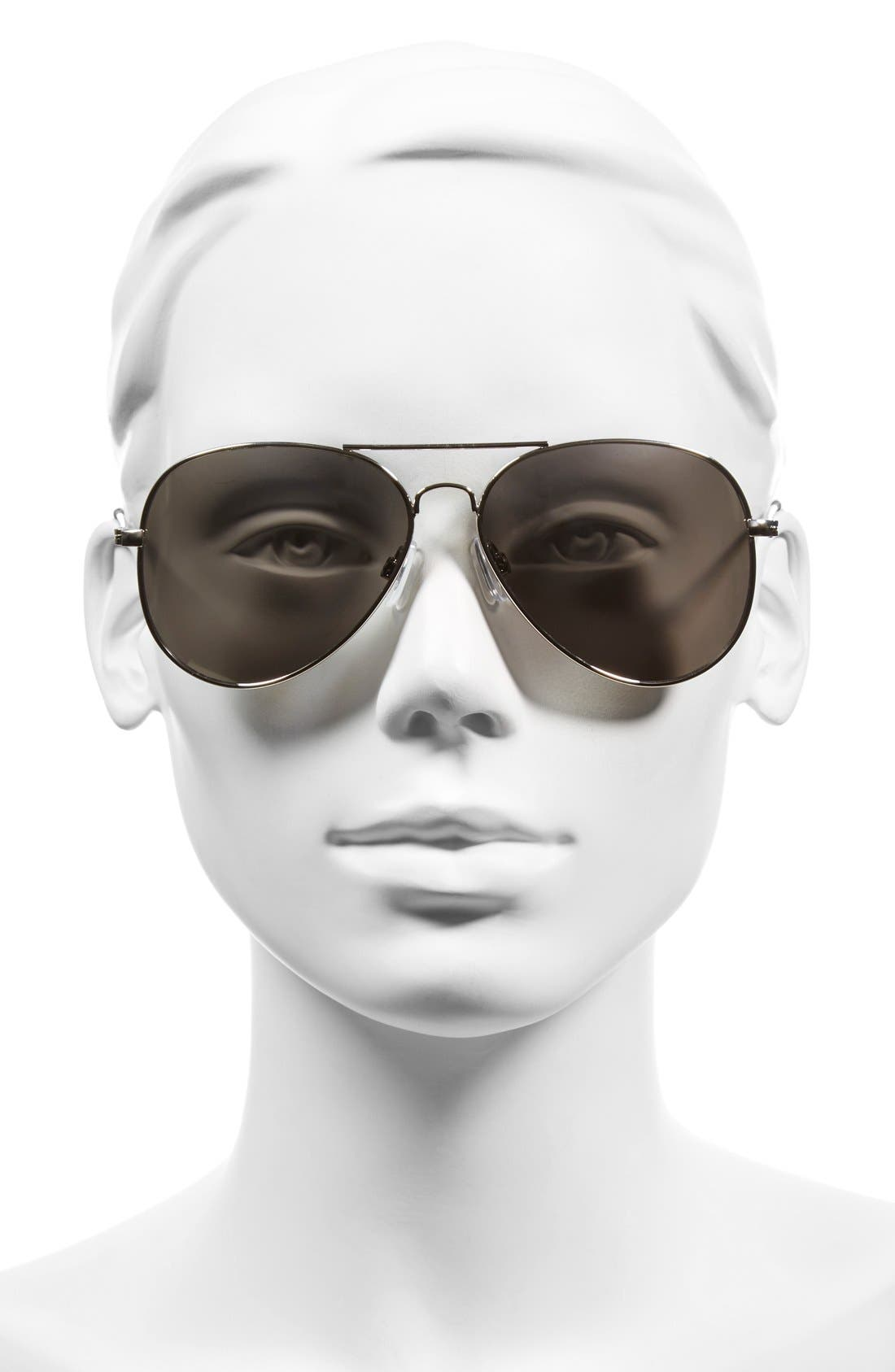 Mirrored Aviator 57mm Sunglasses,                             Alternate thumbnail 19, color,