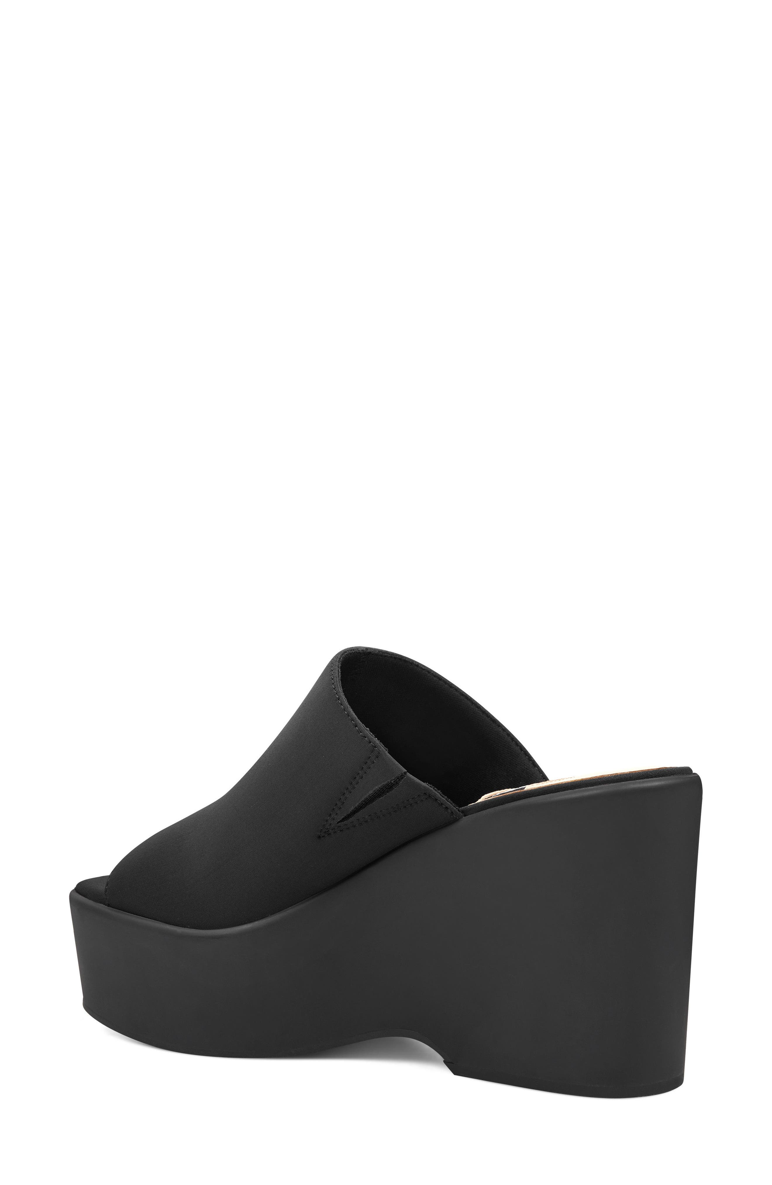 Tomo - 40th Anniversary Capsule Collection Platform Sandal,                             Alternate thumbnail 2, color,                             BLACK FABRIC