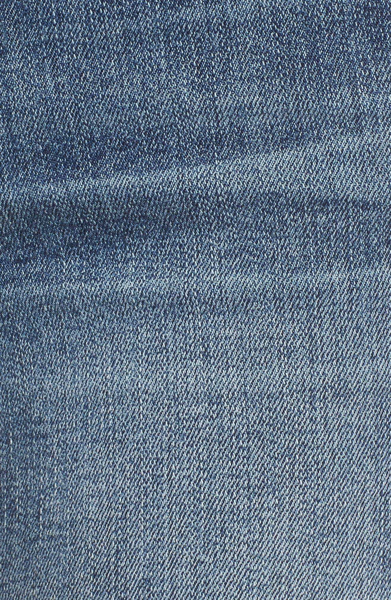 Emma Fray Hem Ripped Ankle Jeans,                             Alternate thumbnail 6, color,                             400