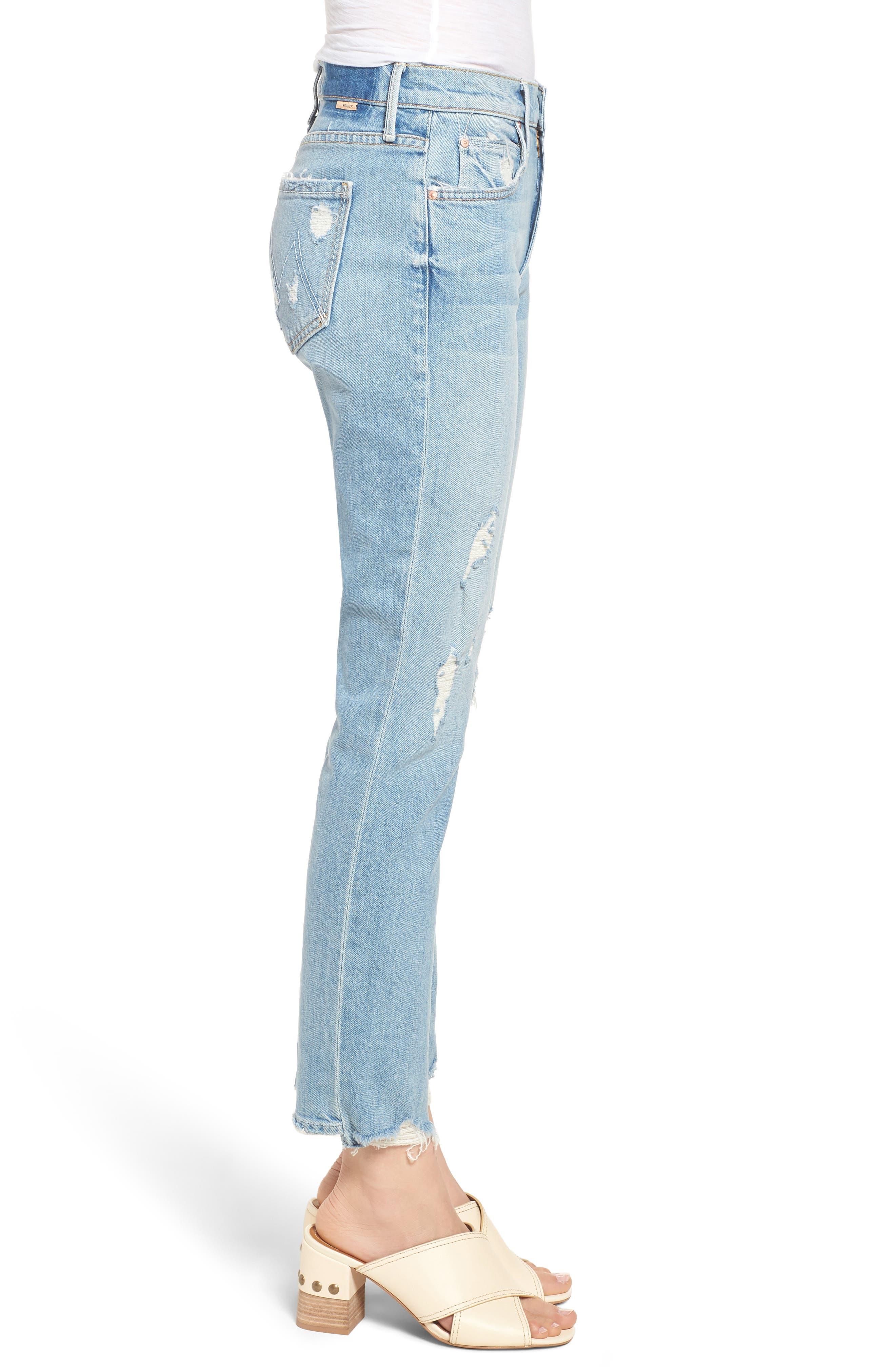 The Flirt Ankle Slim Jeans,                             Alternate thumbnail 3, color,                             400