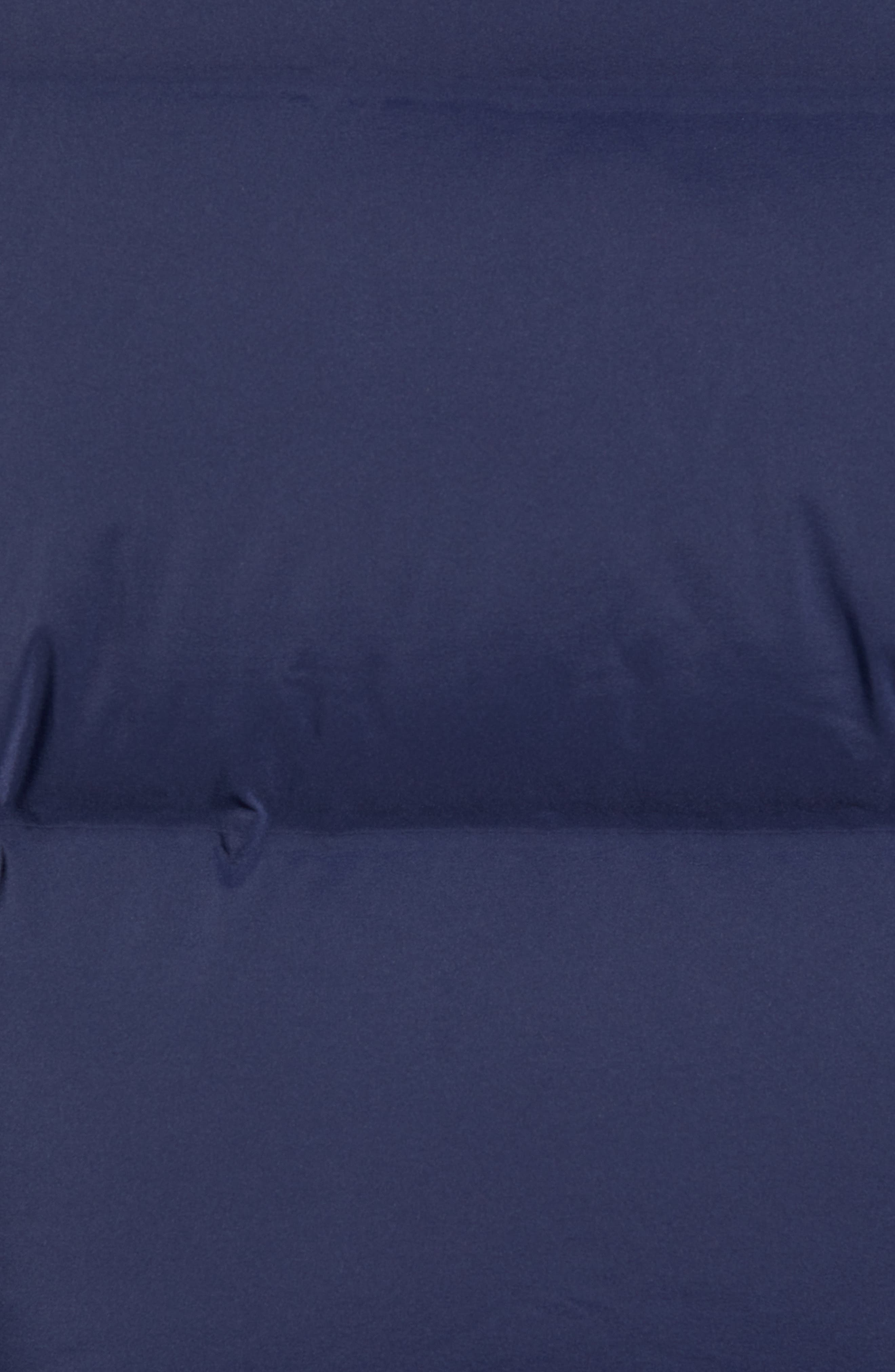 Colorblock Down Jacket,                             Alternate thumbnail 7, color,                             BLACK IRIS / MULTI