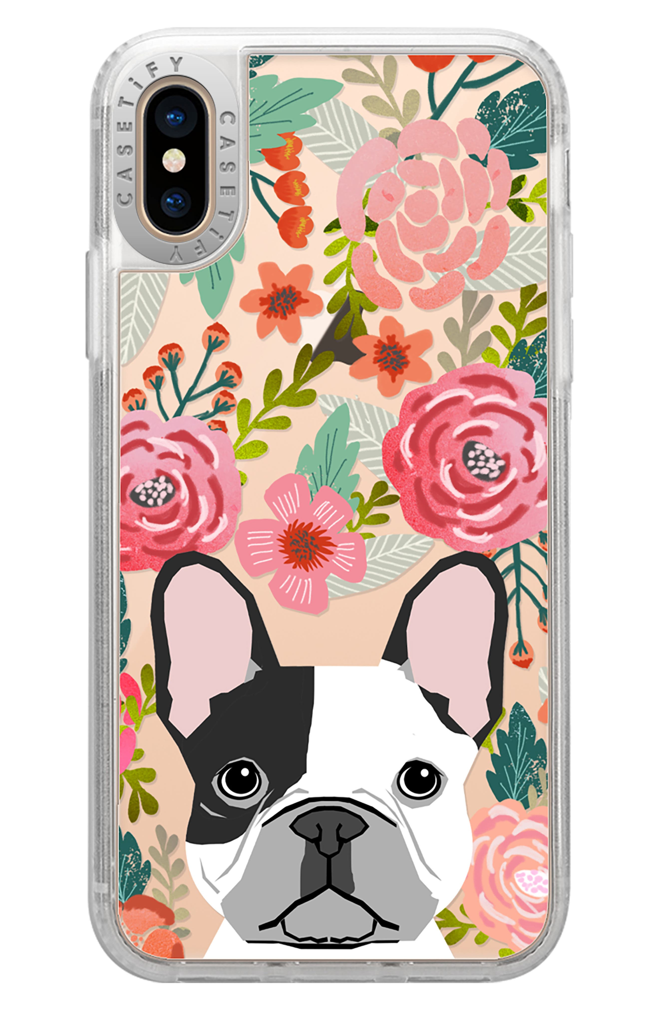 French Bulldog Grip iPhone X/Xs, XR & X Max Case,                             Main thumbnail 1, color,                             650