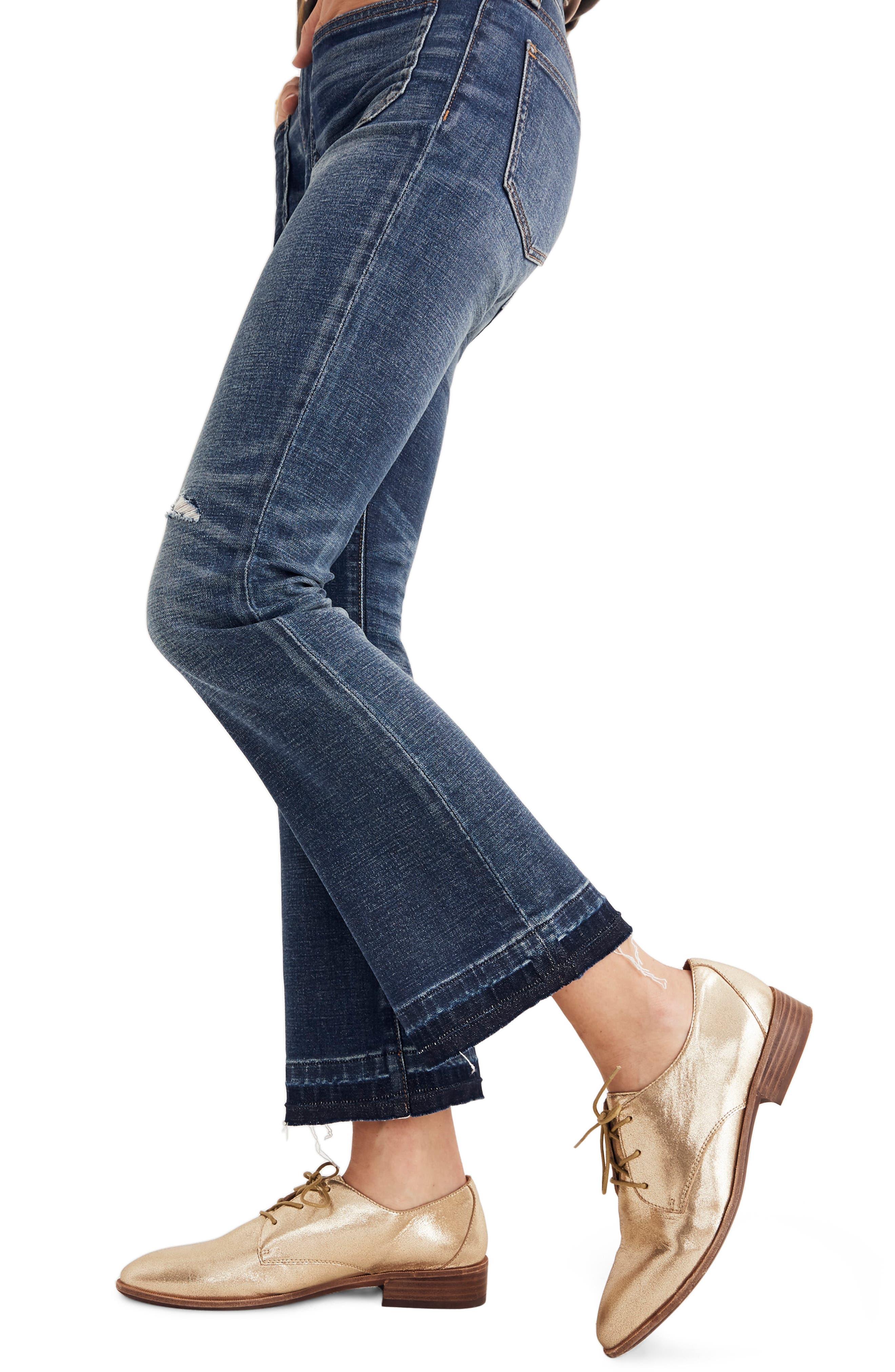 Cali Patch Pocket High Waist Demi Boot Jeans,                             Alternate thumbnail 3, color,                             DERMOTT