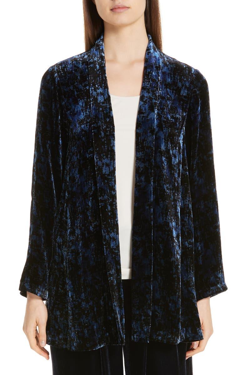 68abdb3eb59c8 Eileen Fisher Shawl Collar Velvet Jacket