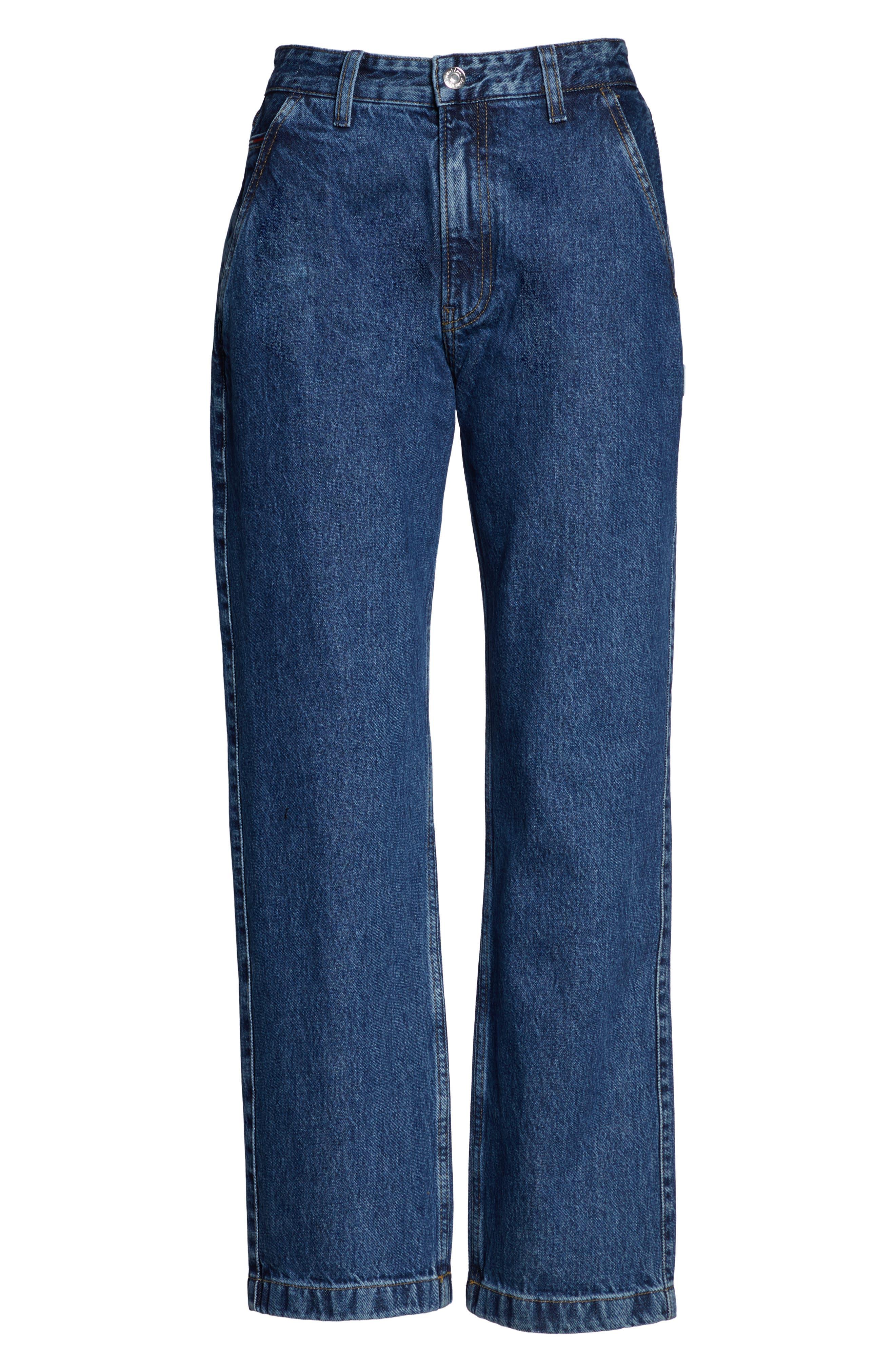 TJW Straight Leg Jeans,                             Alternate thumbnail 5, color,                             GOUGH MID BLUE RIGID
