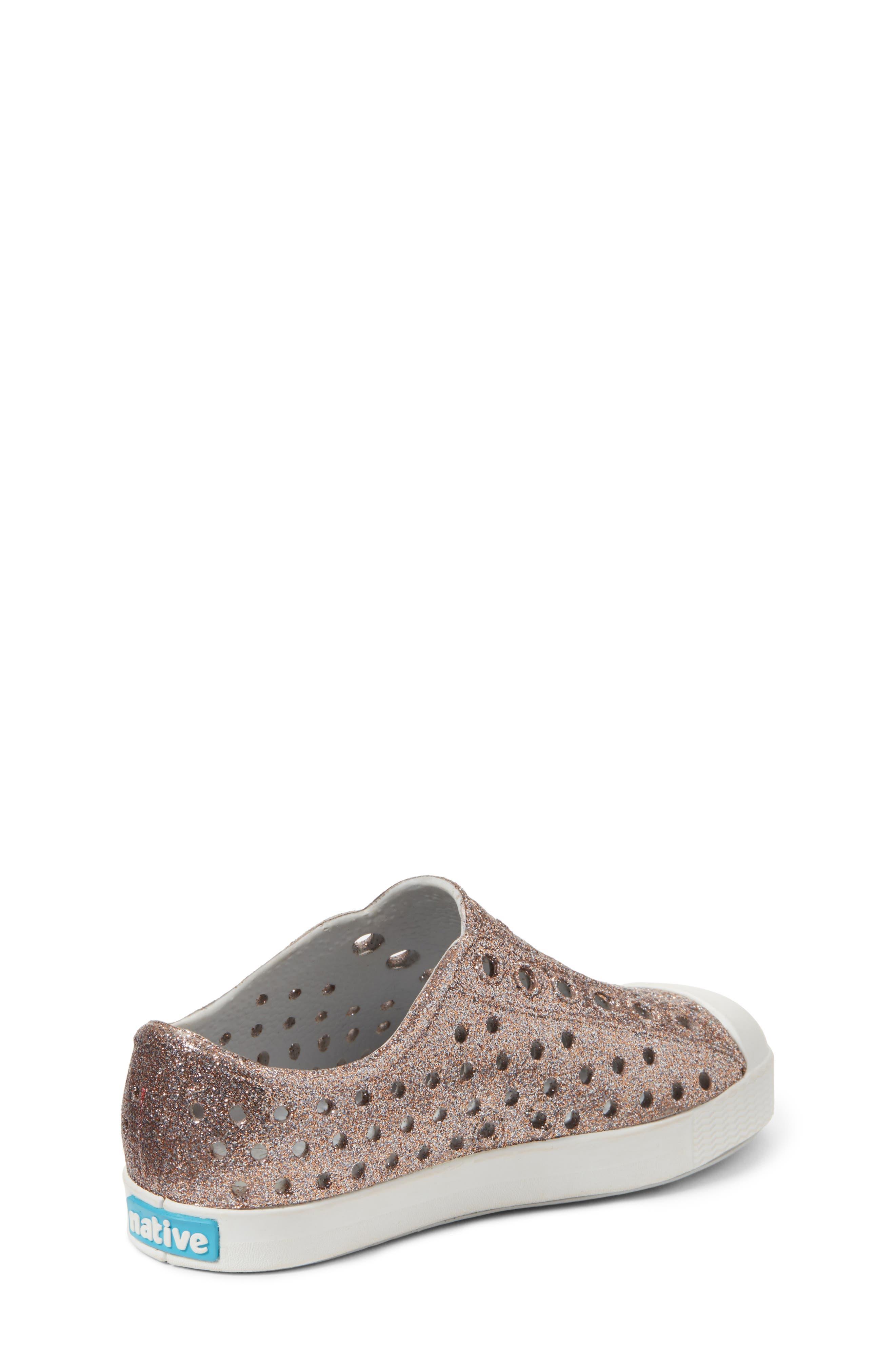 Jefferson - Bling Glitter Slip-On Sneaker,                             Alternate thumbnail 2, color,                             METALLIC BLING/ SHELL WHITE