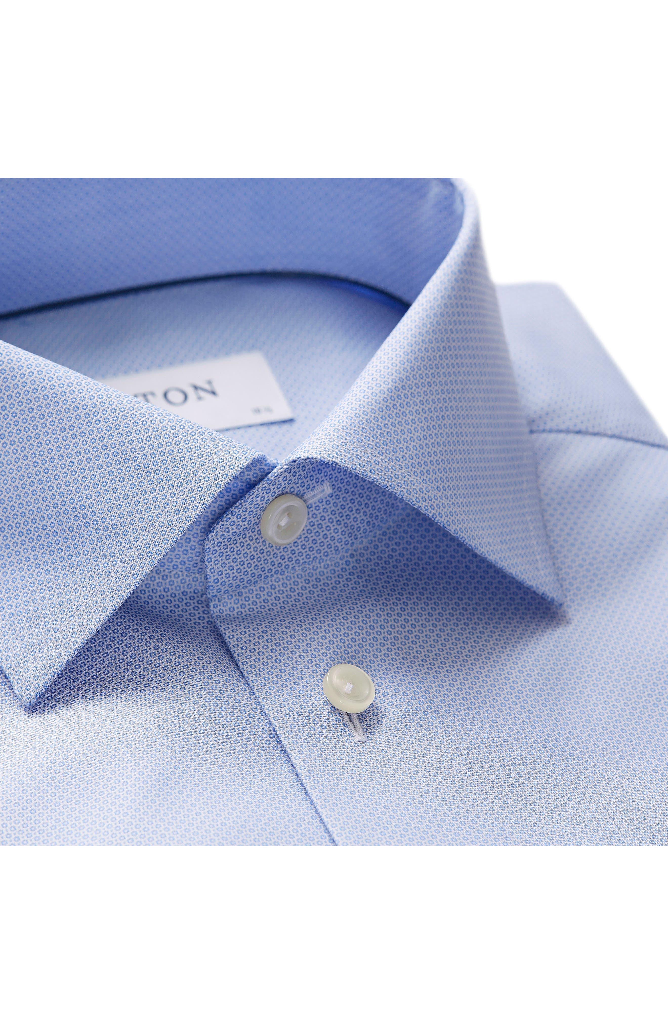 Slim Fit Solid Dress Shirt,                             Alternate thumbnail 3, color,                             400
