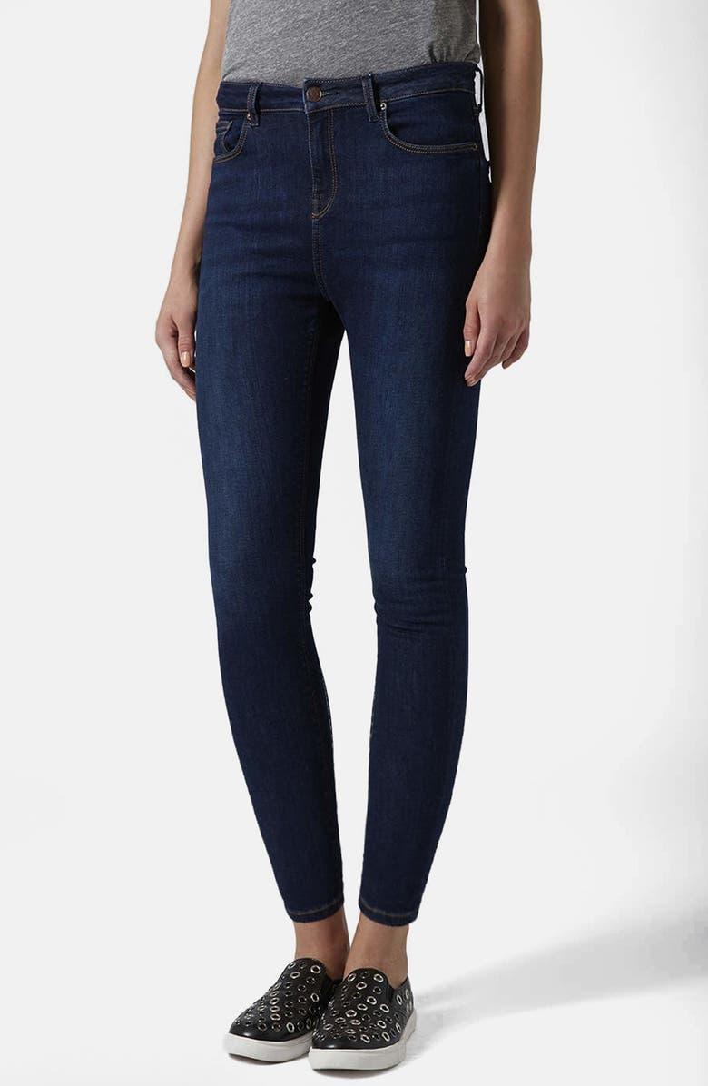 16b28393d8 Topshop Moto 'Jamie' Vintage High Rise Jeans (Dark Denim) (Regular ...