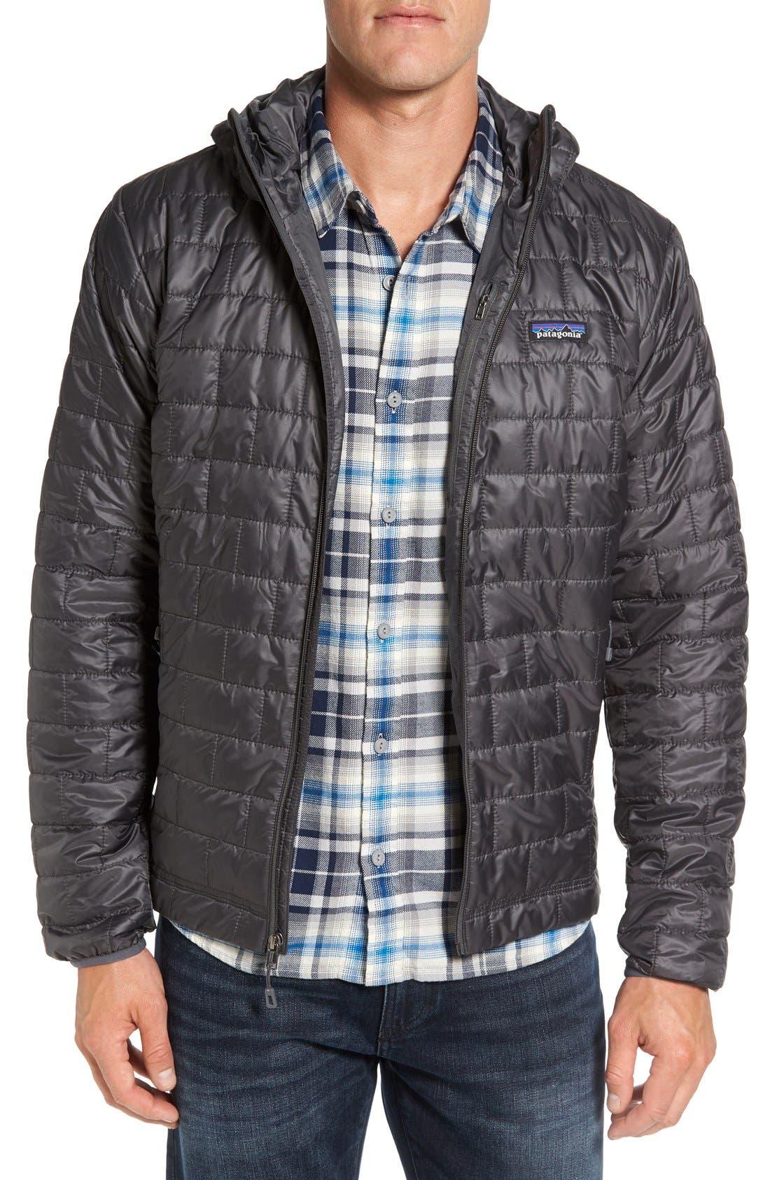 Patagonia Nano Puff Hooded Jacket, Grey