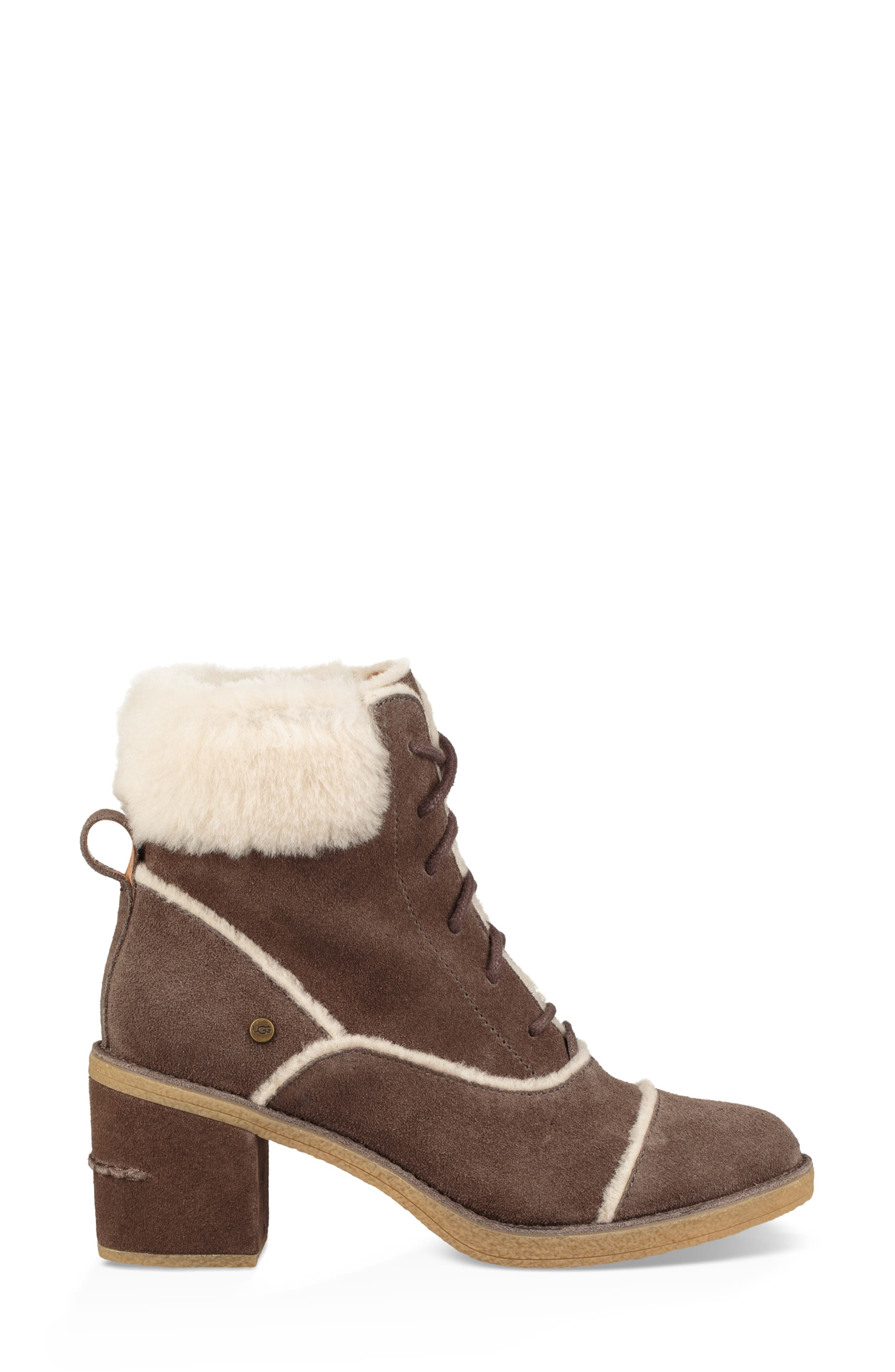 Esterly Genuine Shearling Boot,                             Alternate thumbnail 3, color,                             MYSTERIOUS