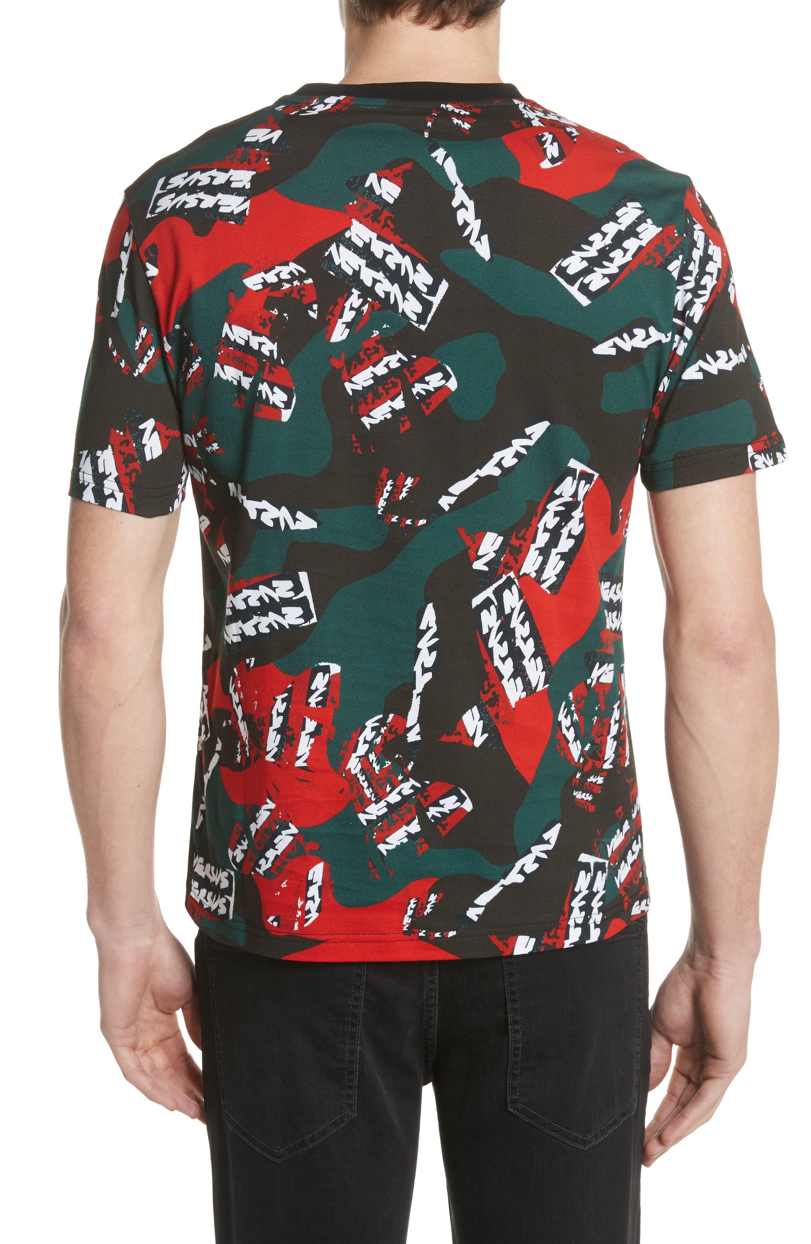 VERSUS by Versace Camo T-Shirt,                             Alternate thumbnail 2, color,                             626