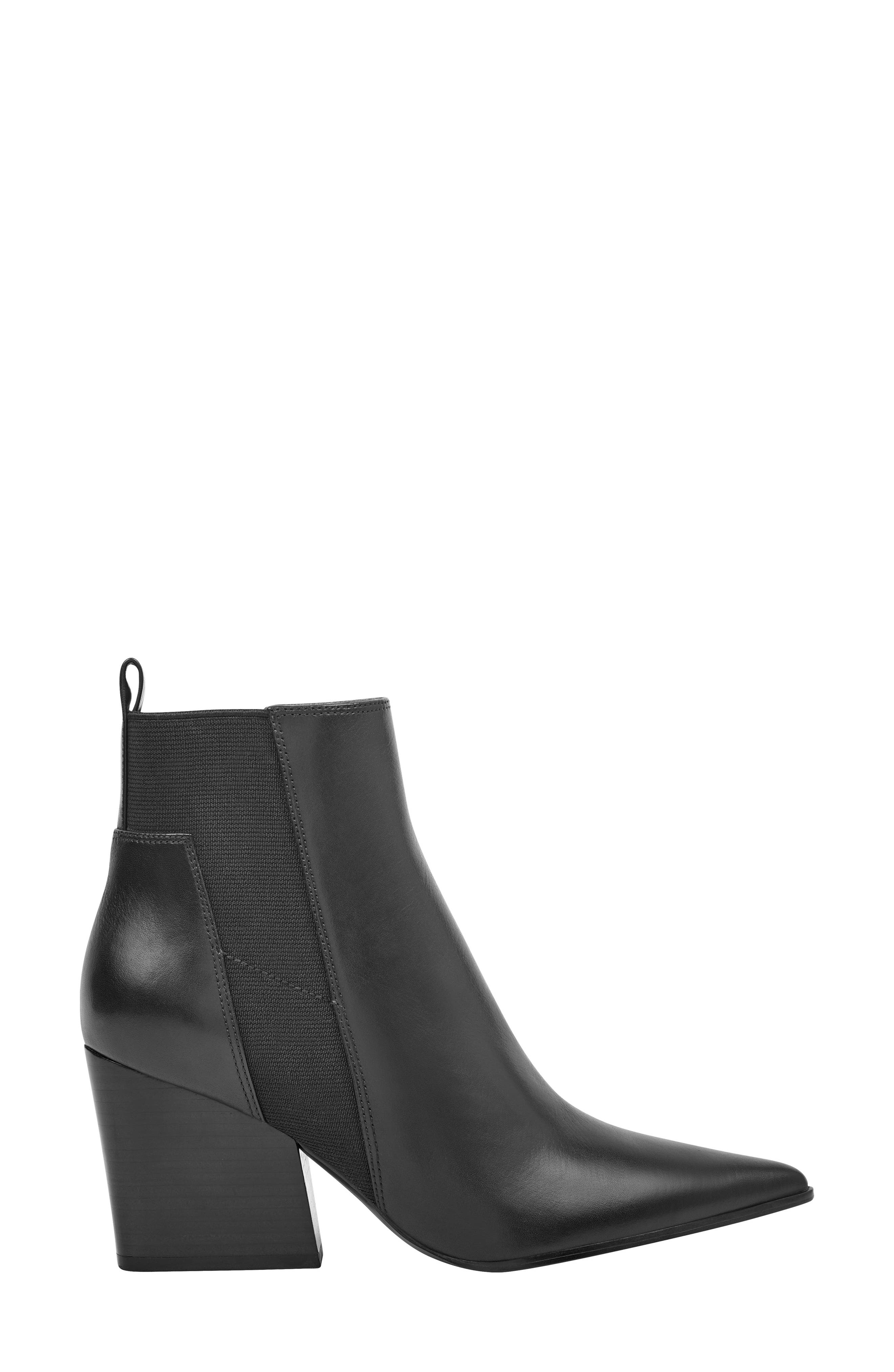 Pointy Toe Chelsea Bootie,                             Alternate thumbnail 3, color,                             001