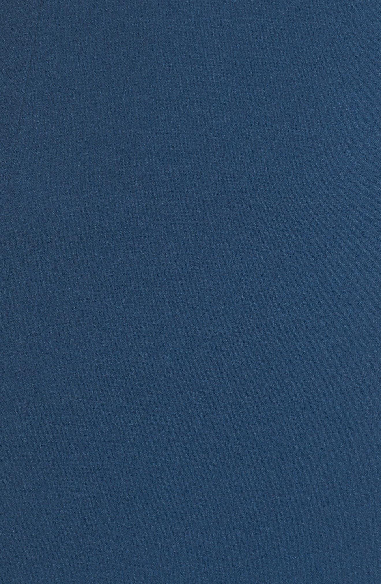 Vionnet Drape Back Crepe Gown,                             Alternate thumbnail 5, color,                             TEAL