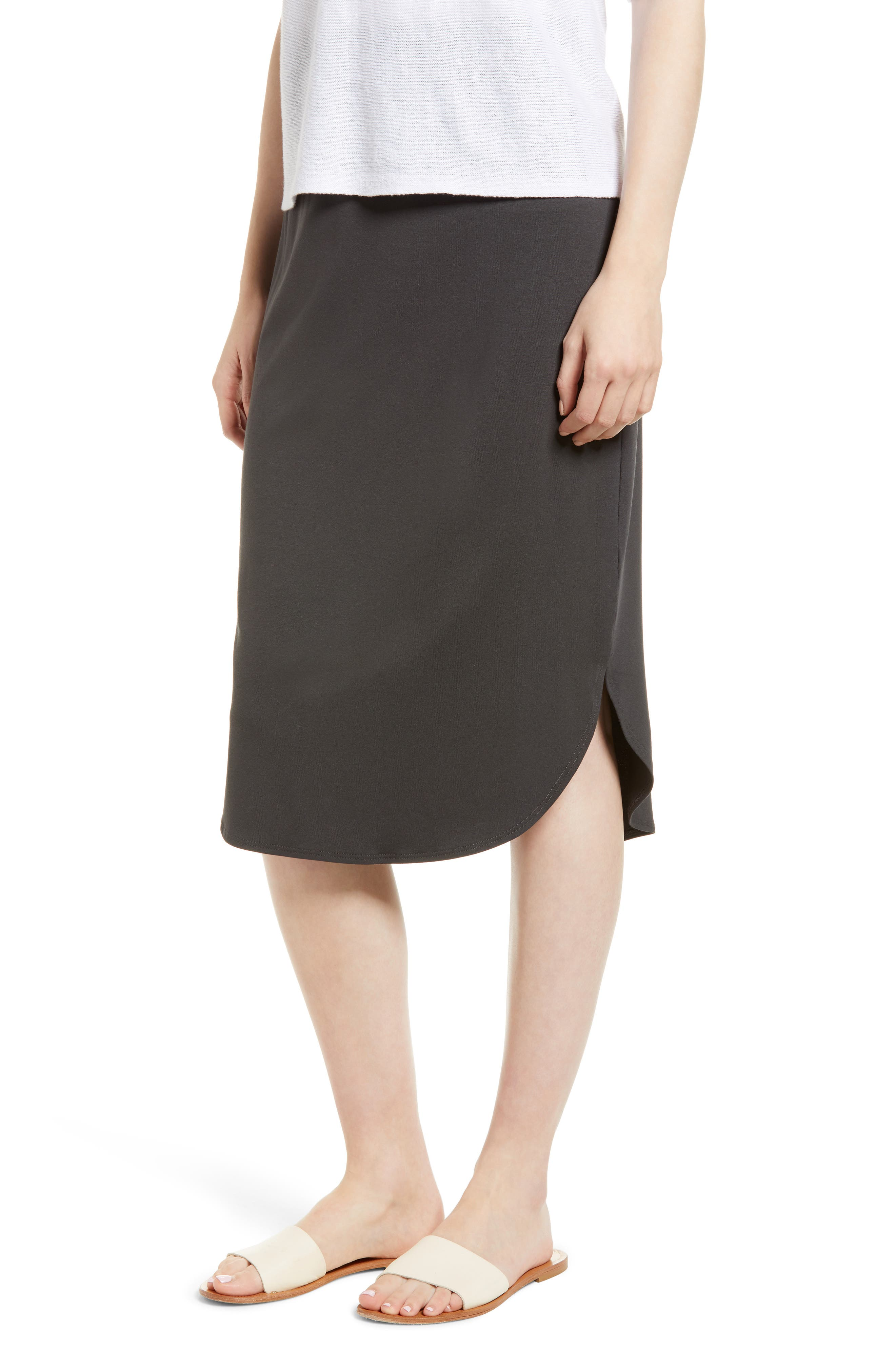 Jersey Shirttail Hem Skirt,                             Main thumbnail 1, color,                             025