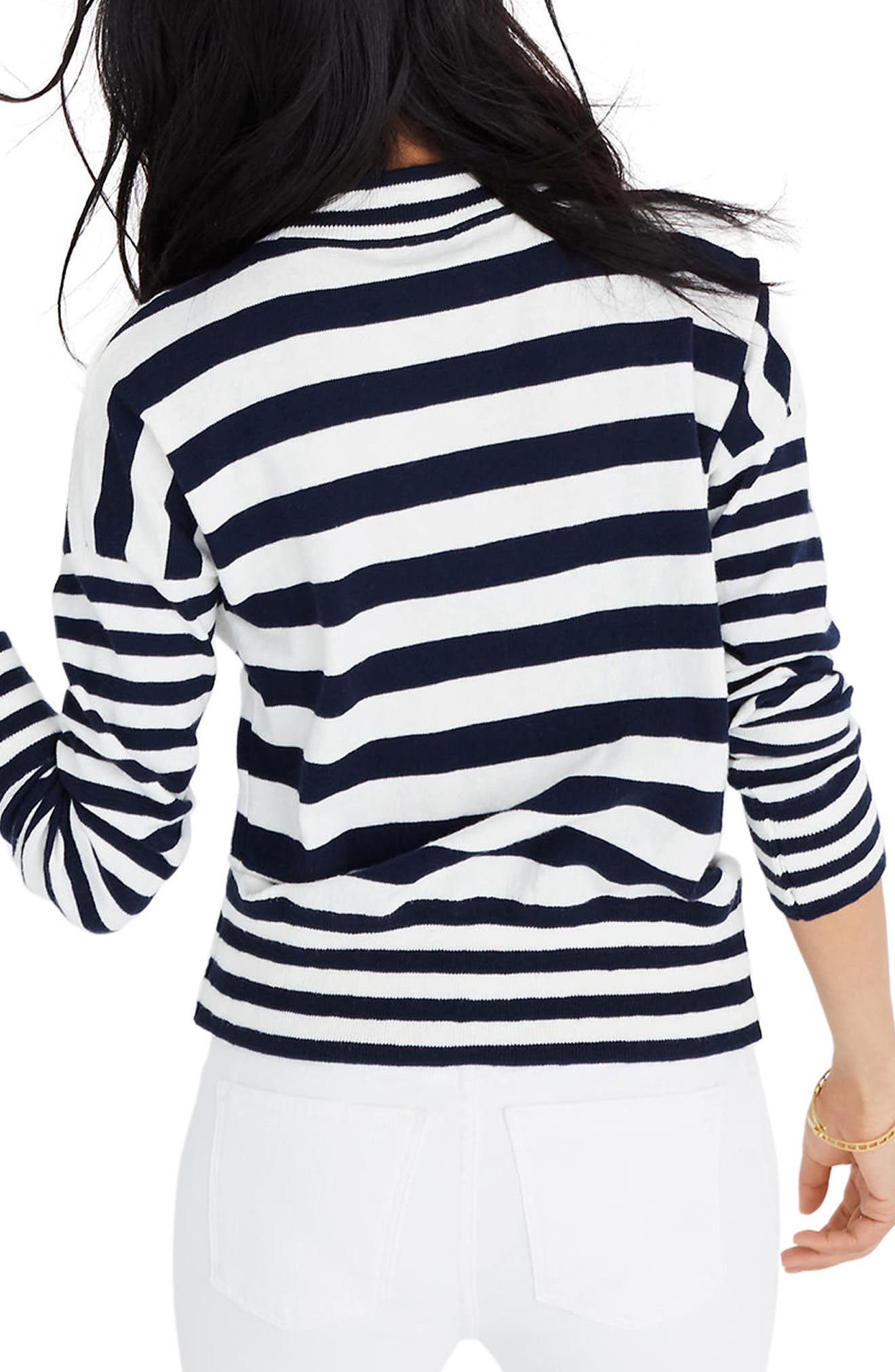 MADEWELL,                             Stripe Mock Neck Sweater,                             Alternate thumbnail 2, color,                             400