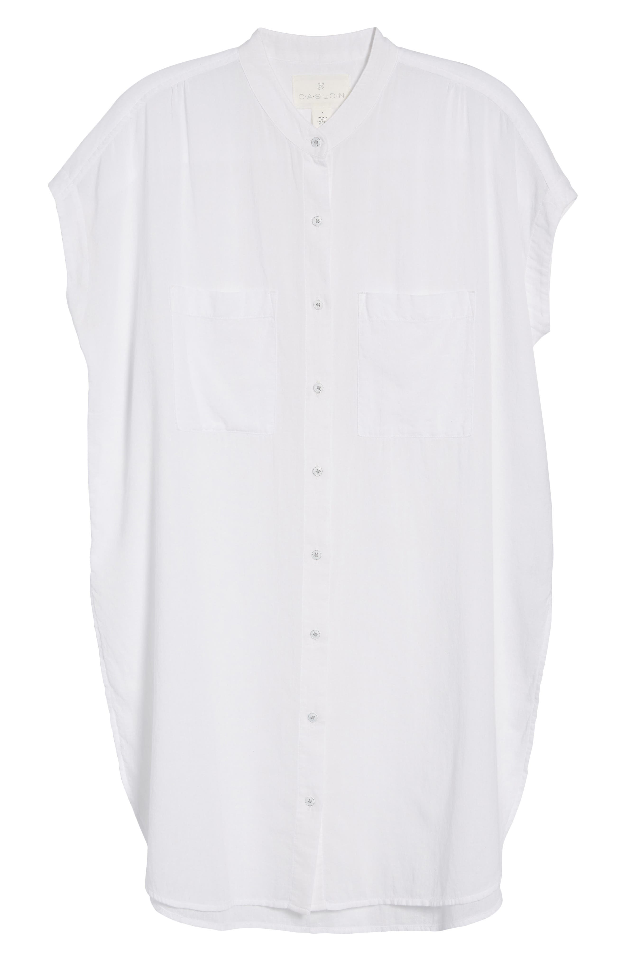 Button Front Longline Top,                             Alternate thumbnail 43, color,