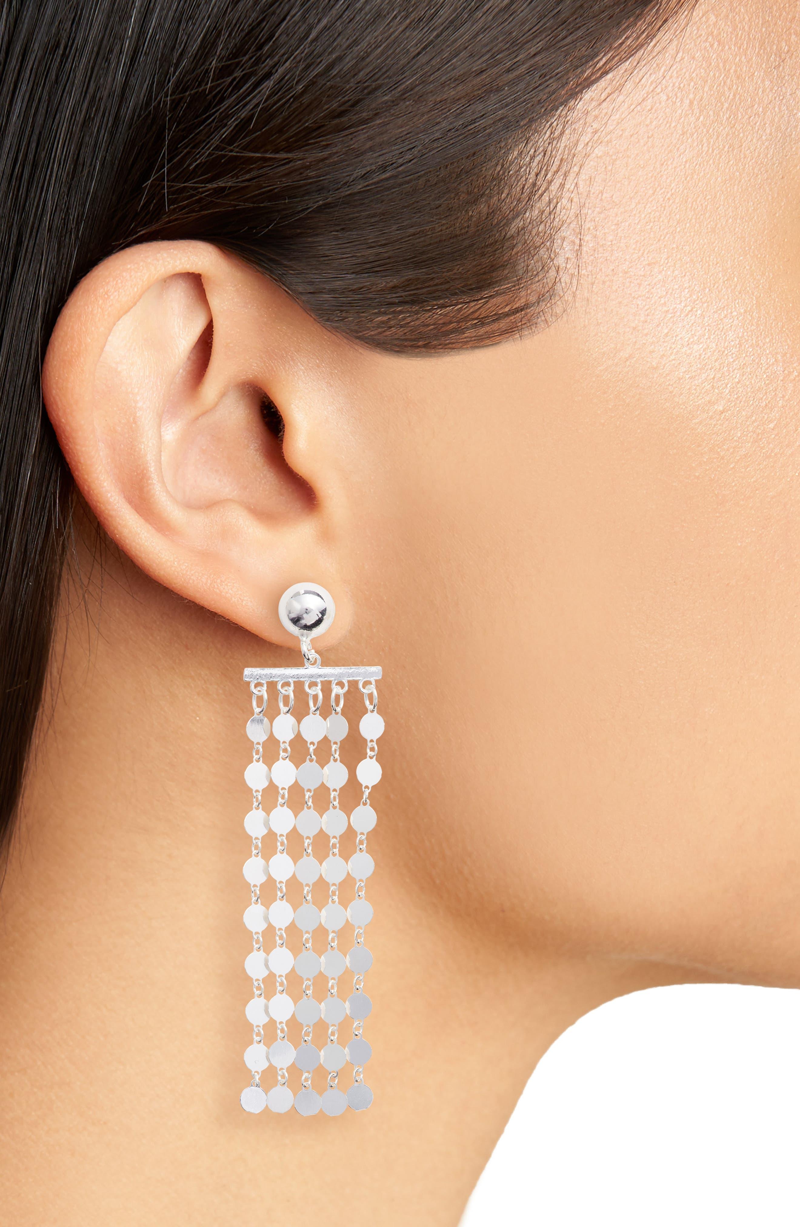 Carmen Fringe Drop Earrings,                             Alternate thumbnail 2, color,                             040