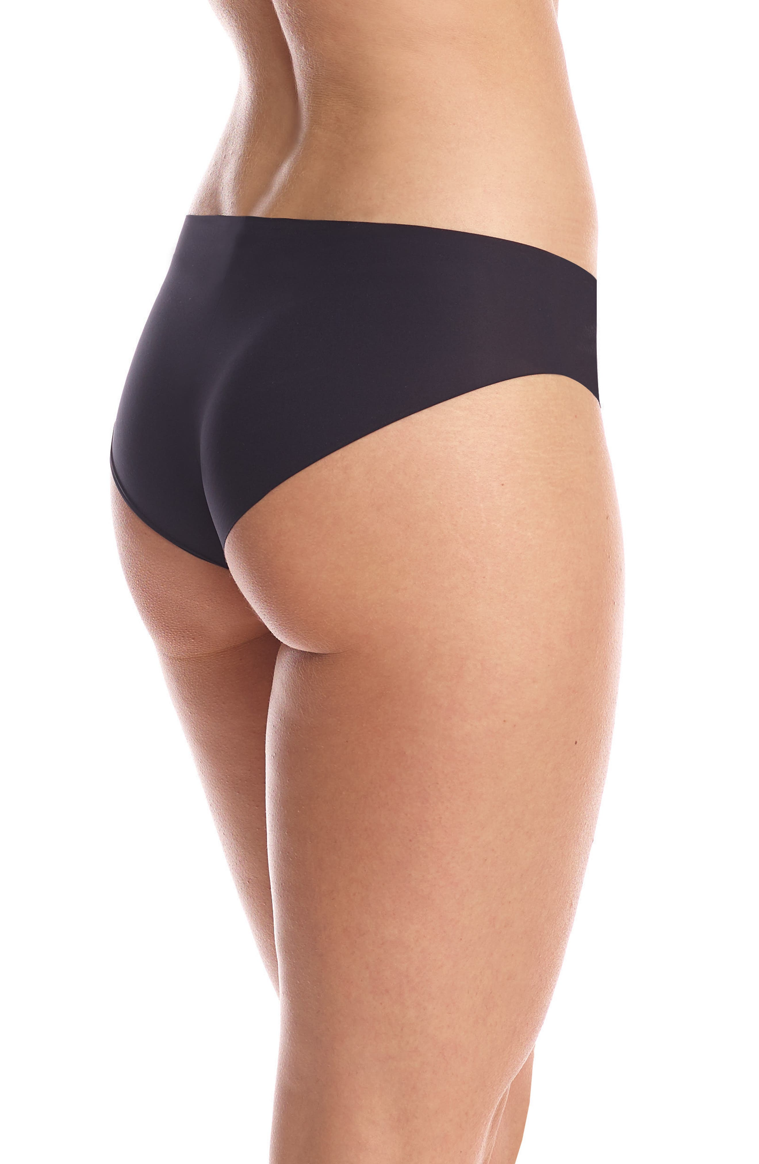 Perfect Stretch Hipster Briefs,                             Alternate thumbnail 2, color,                             BLACK