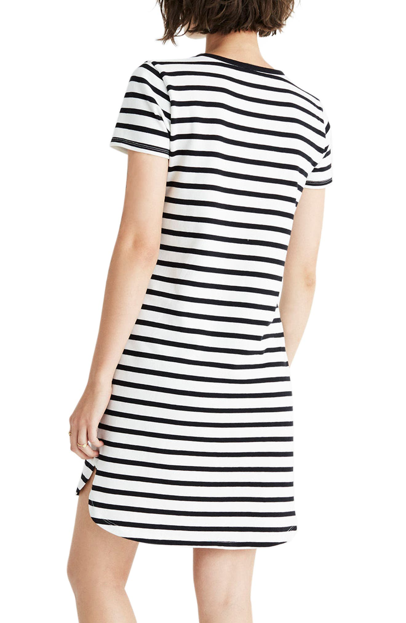 Stripe T-Shirt Dress,                             Main thumbnail 2, color,