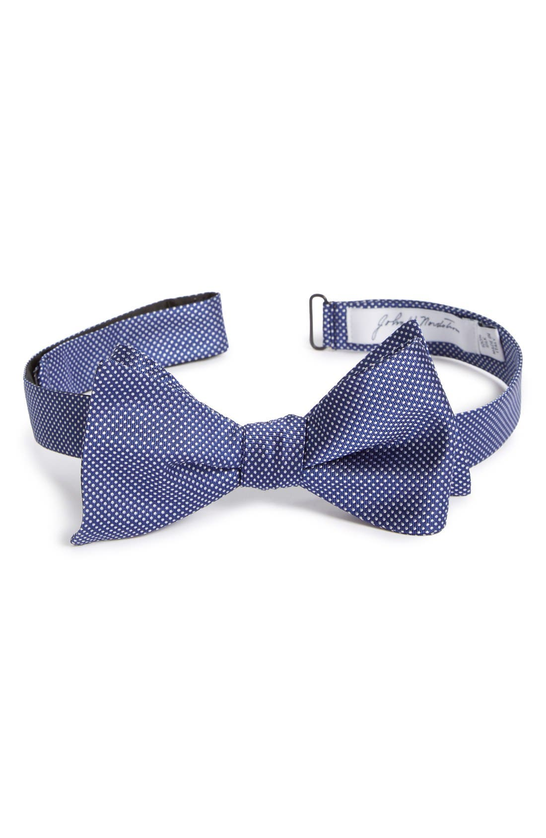 Dot Silk Bow Tie,                             Main thumbnail 4, color,