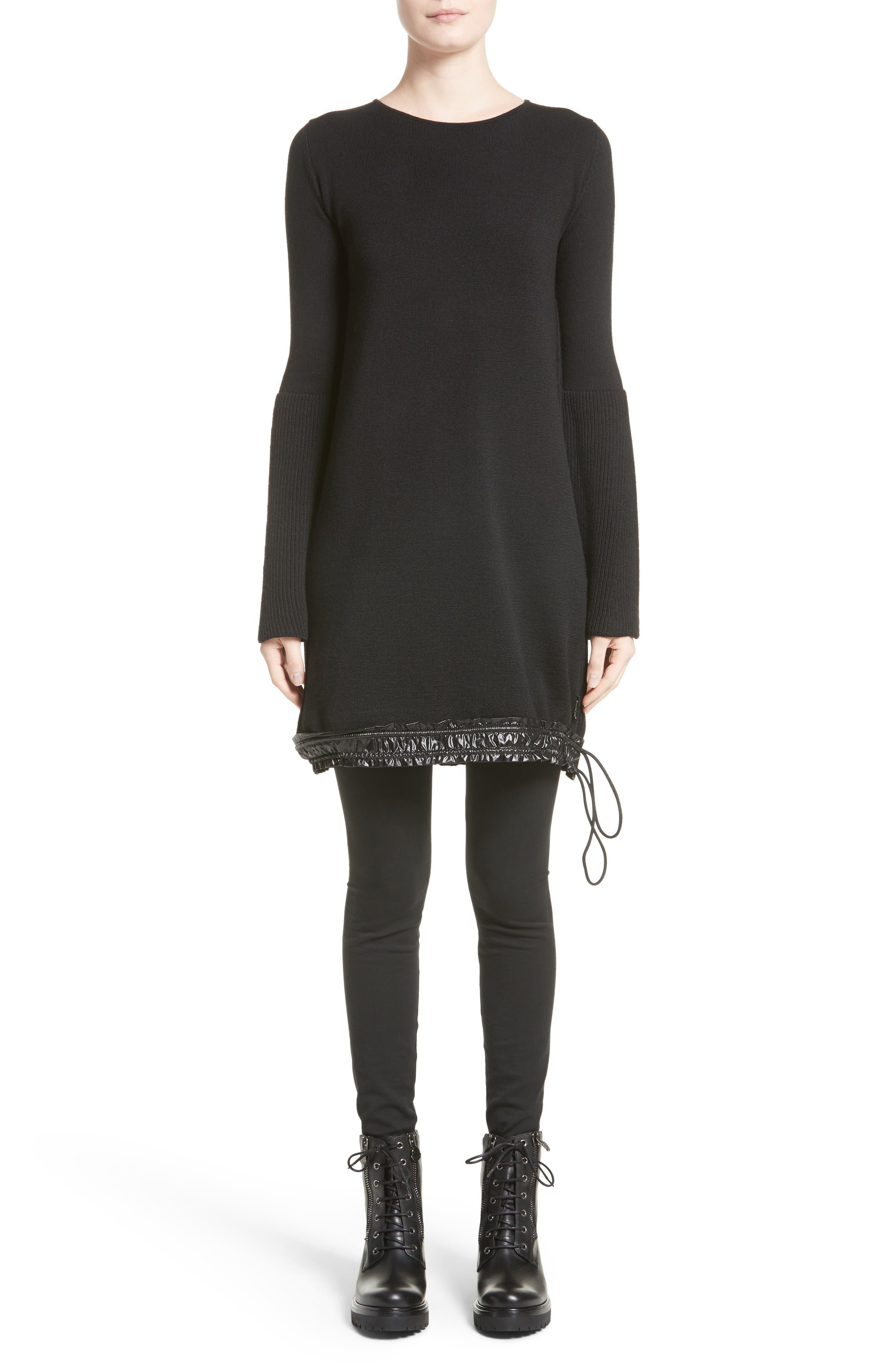 Drawstring Hem Tricot Knit Dress,                         Main,                         color,