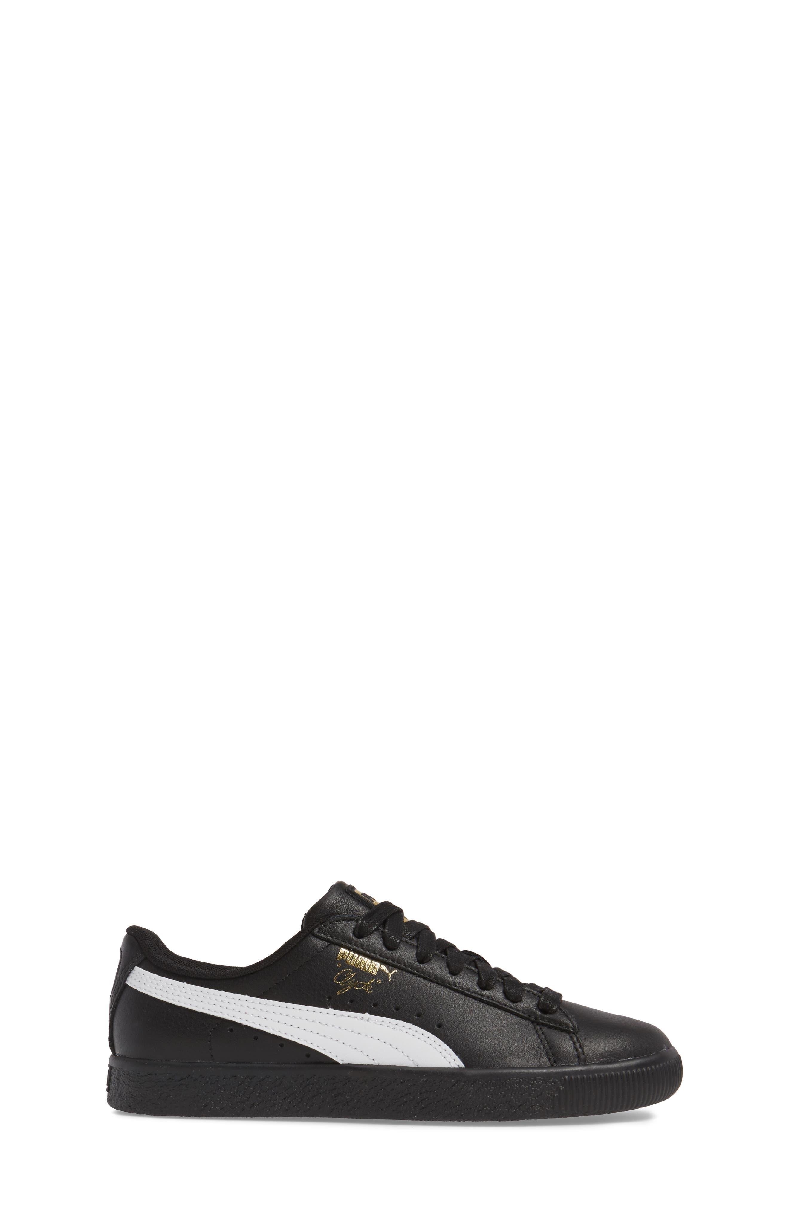Clyde Core Foil Sneaker,                             Alternate thumbnail 3, color,                             001