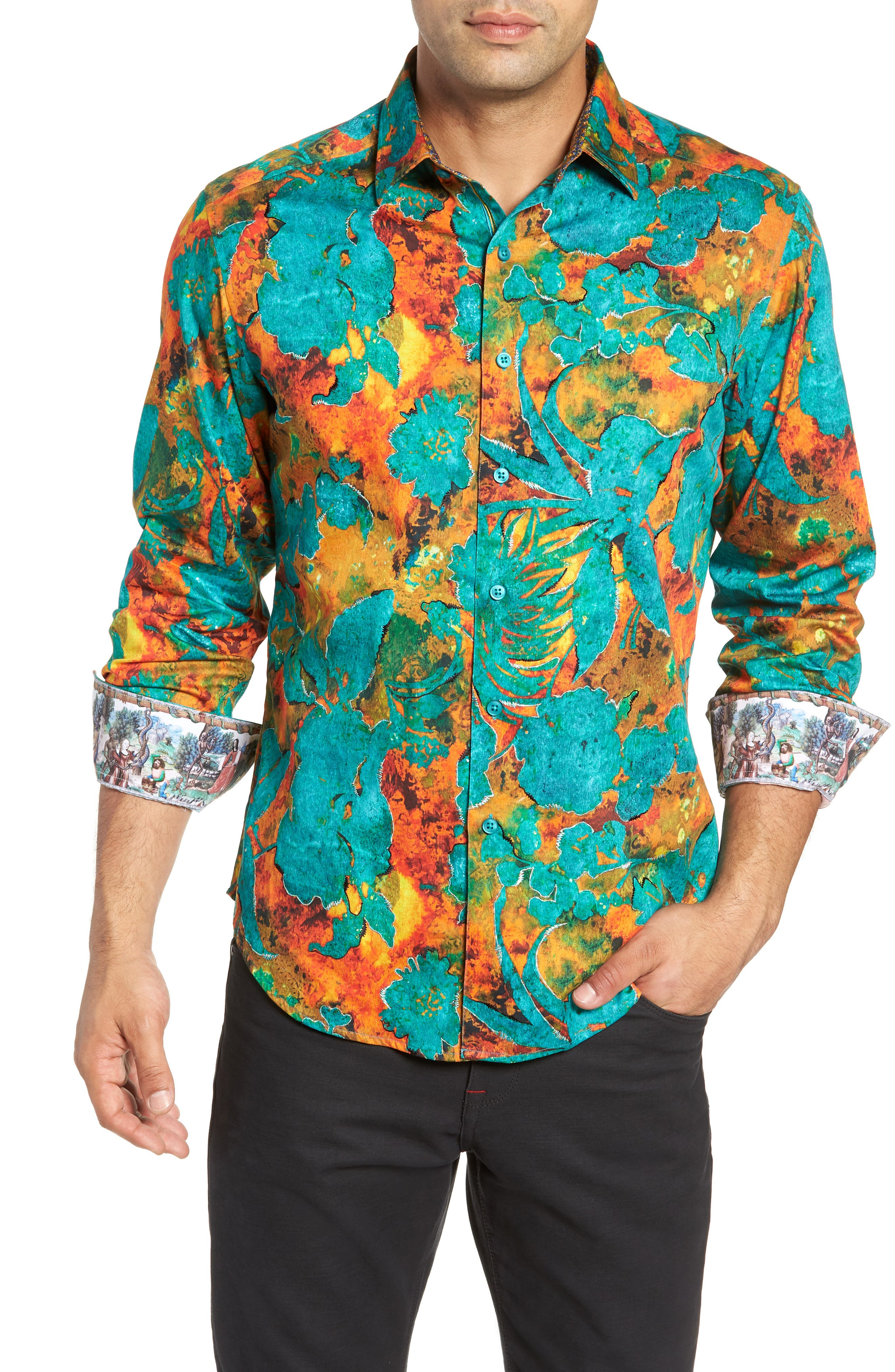 North Wales Classic Fit Sport Shirt,                         Main,                         color, 300