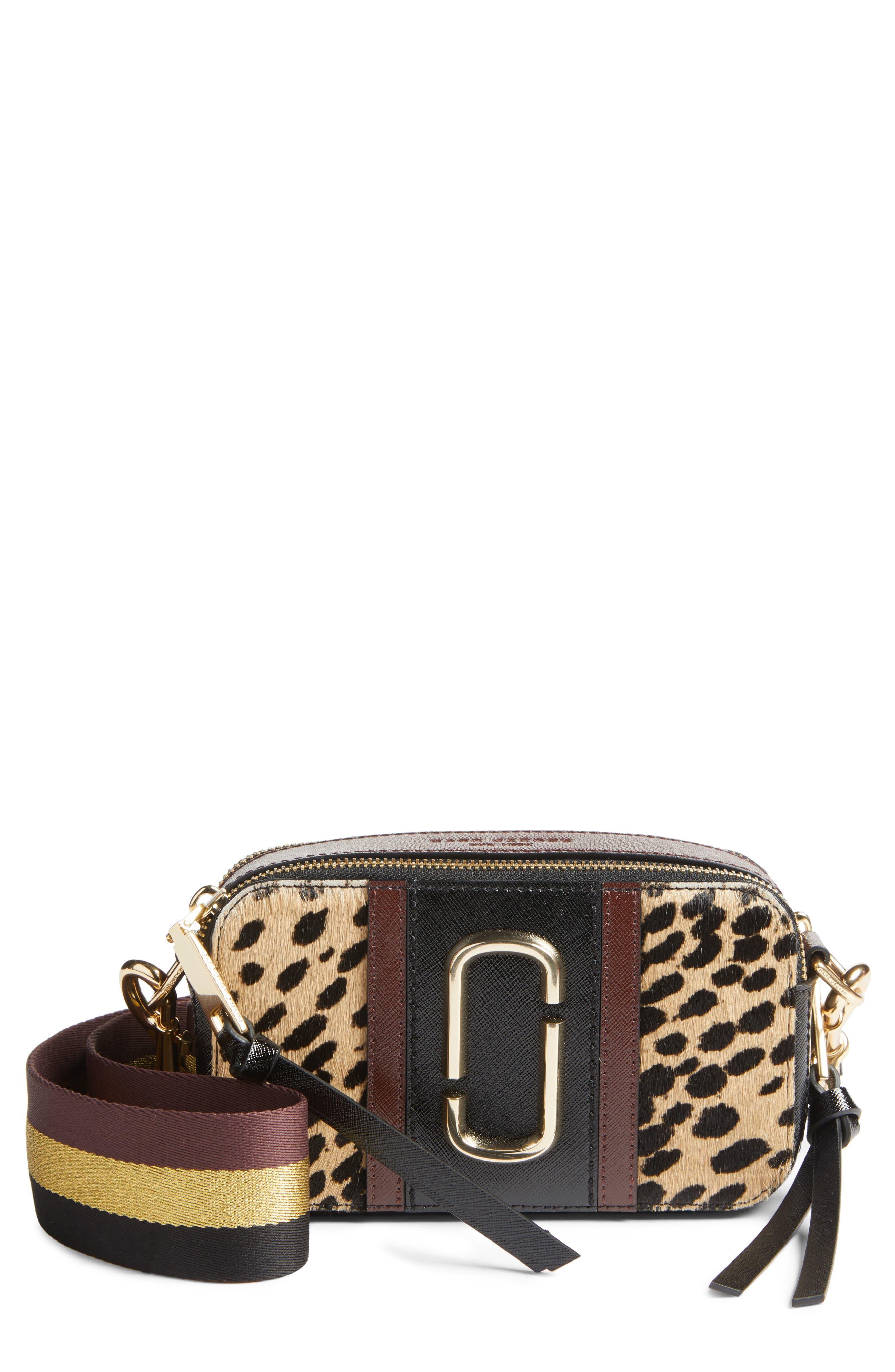 Snapshot Leopard Crossbody Bag,                             Main thumbnail 1, color,                             002