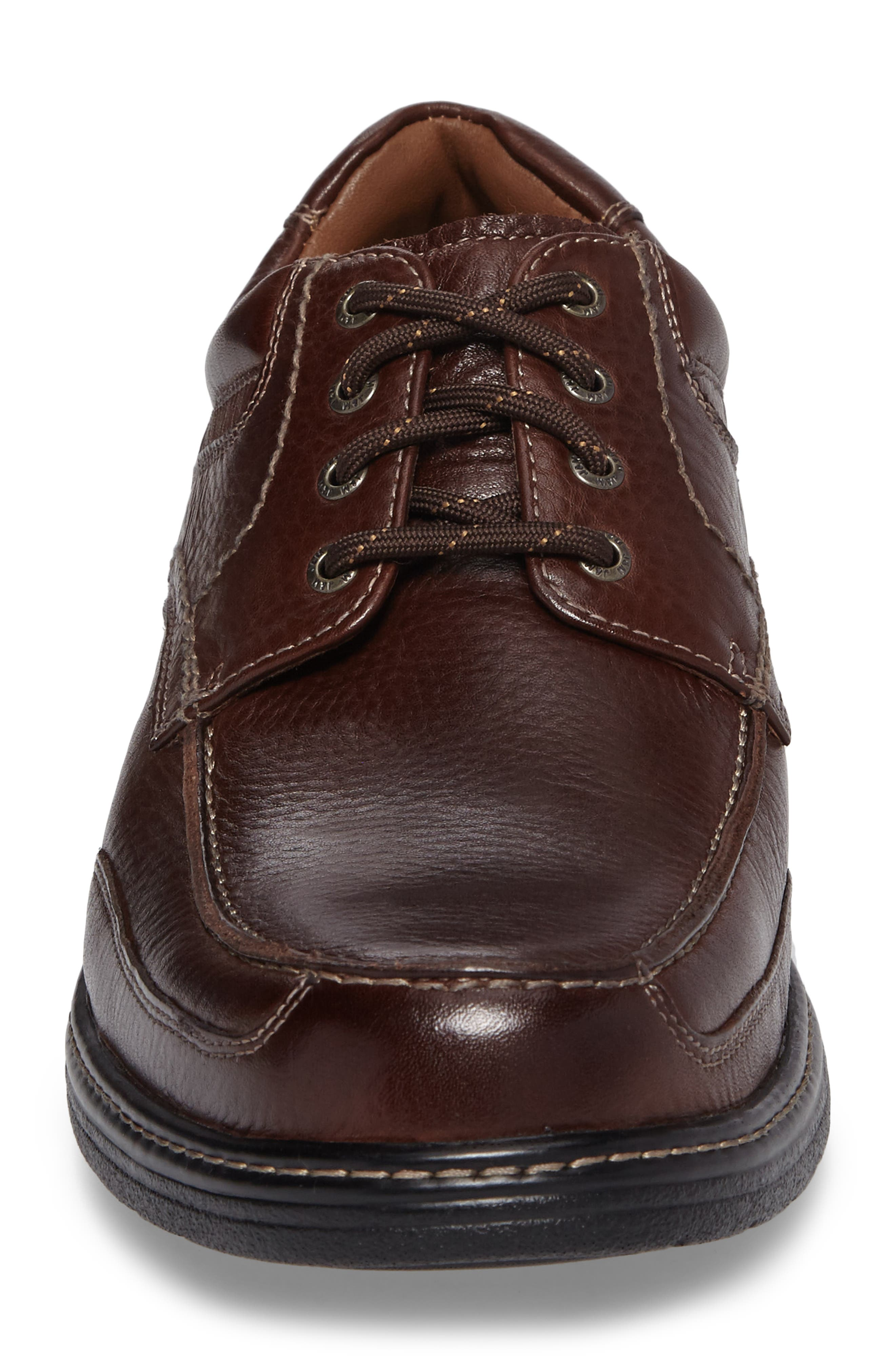 Windham Waterproof Moc Toe Derby,                             Alternate thumbnail 4, color,                             MAHOGANY
