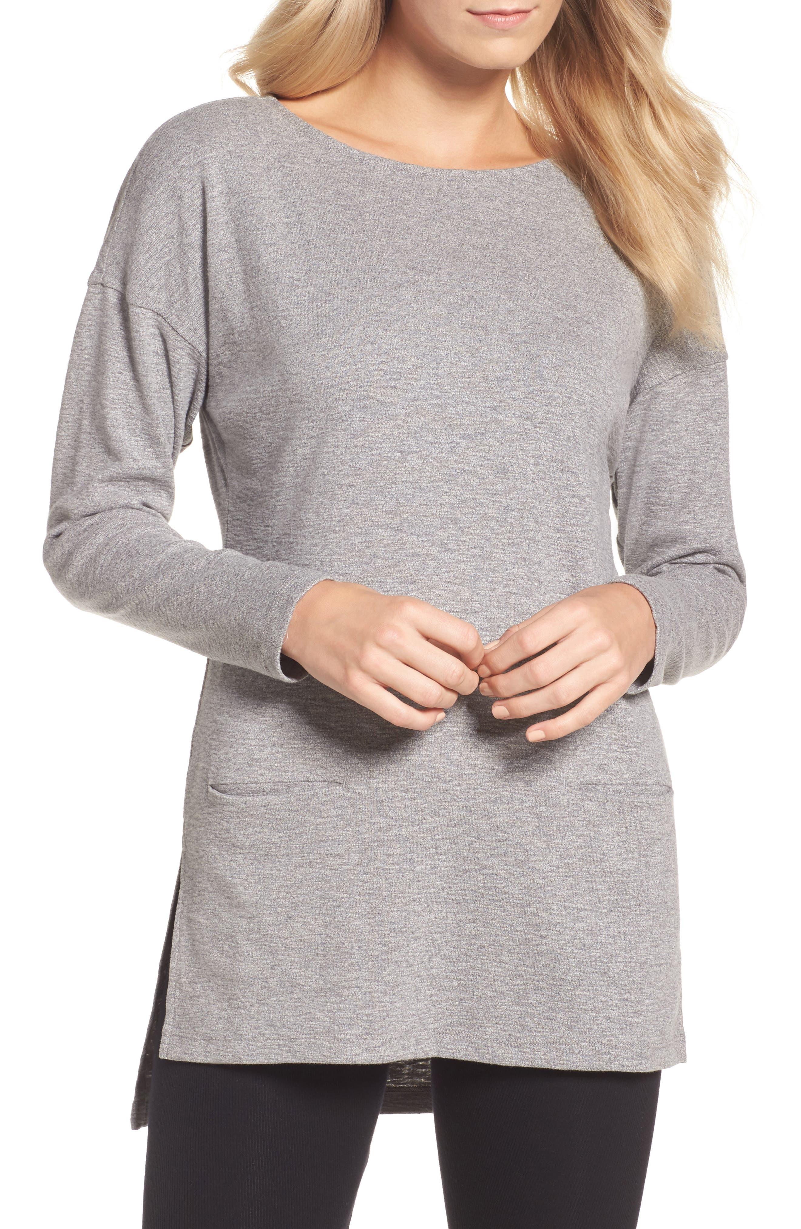 Luella High/Low Cotton Pullover,                             Main thumbnail 1, color,                             041