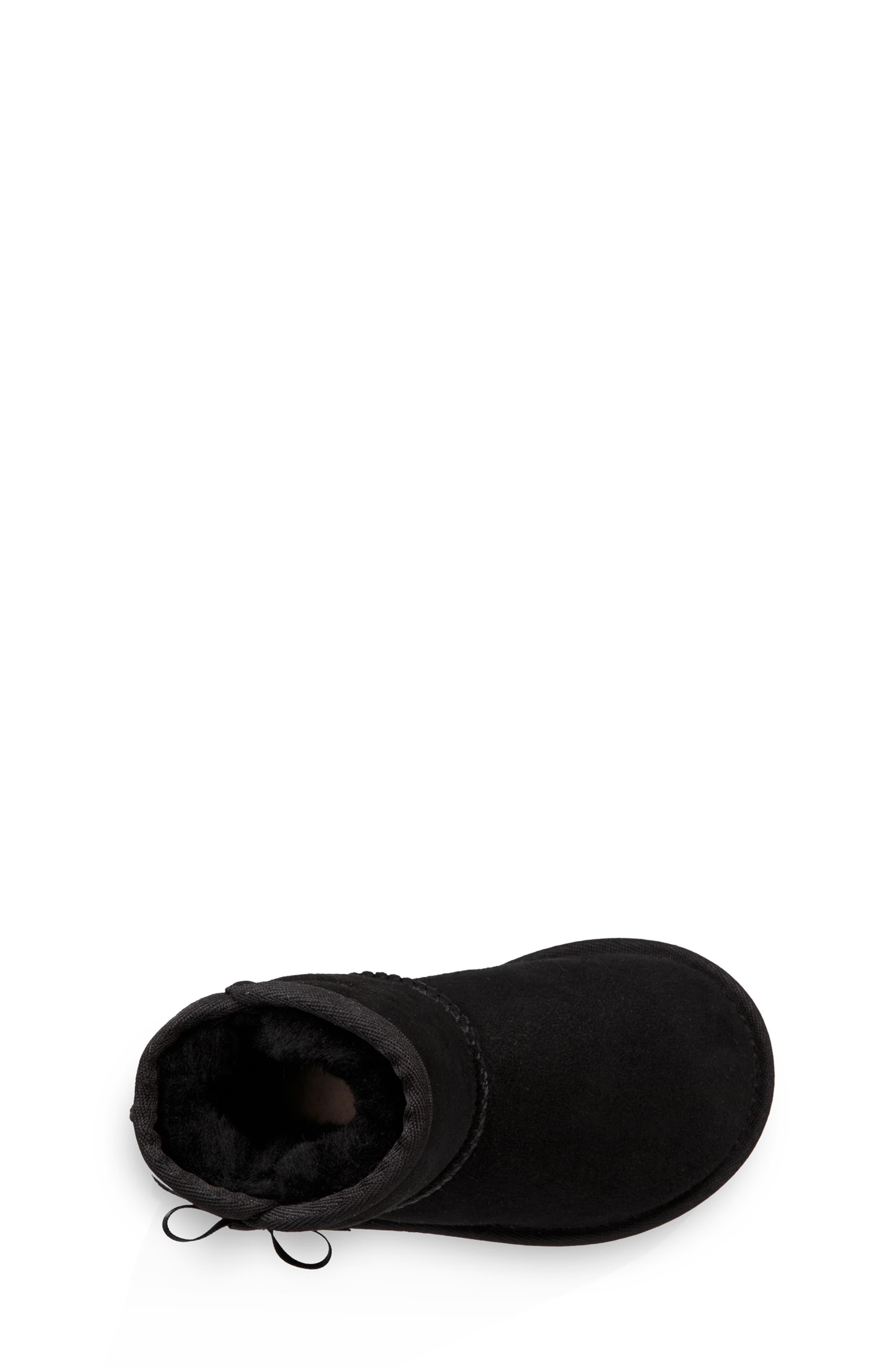 Idris Genuine Shearling Boot,                             Alternate thumbnail 4, color,                             001