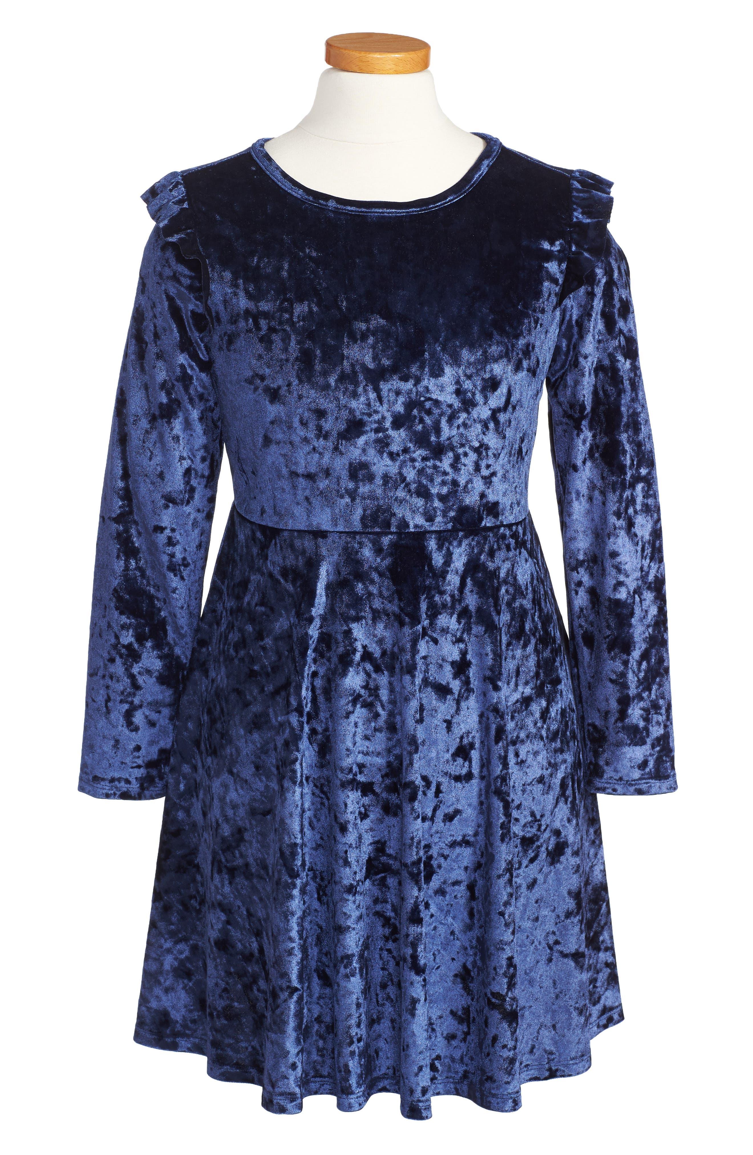 Velvet Dress,                             Main thumbnail 1, color,                             430