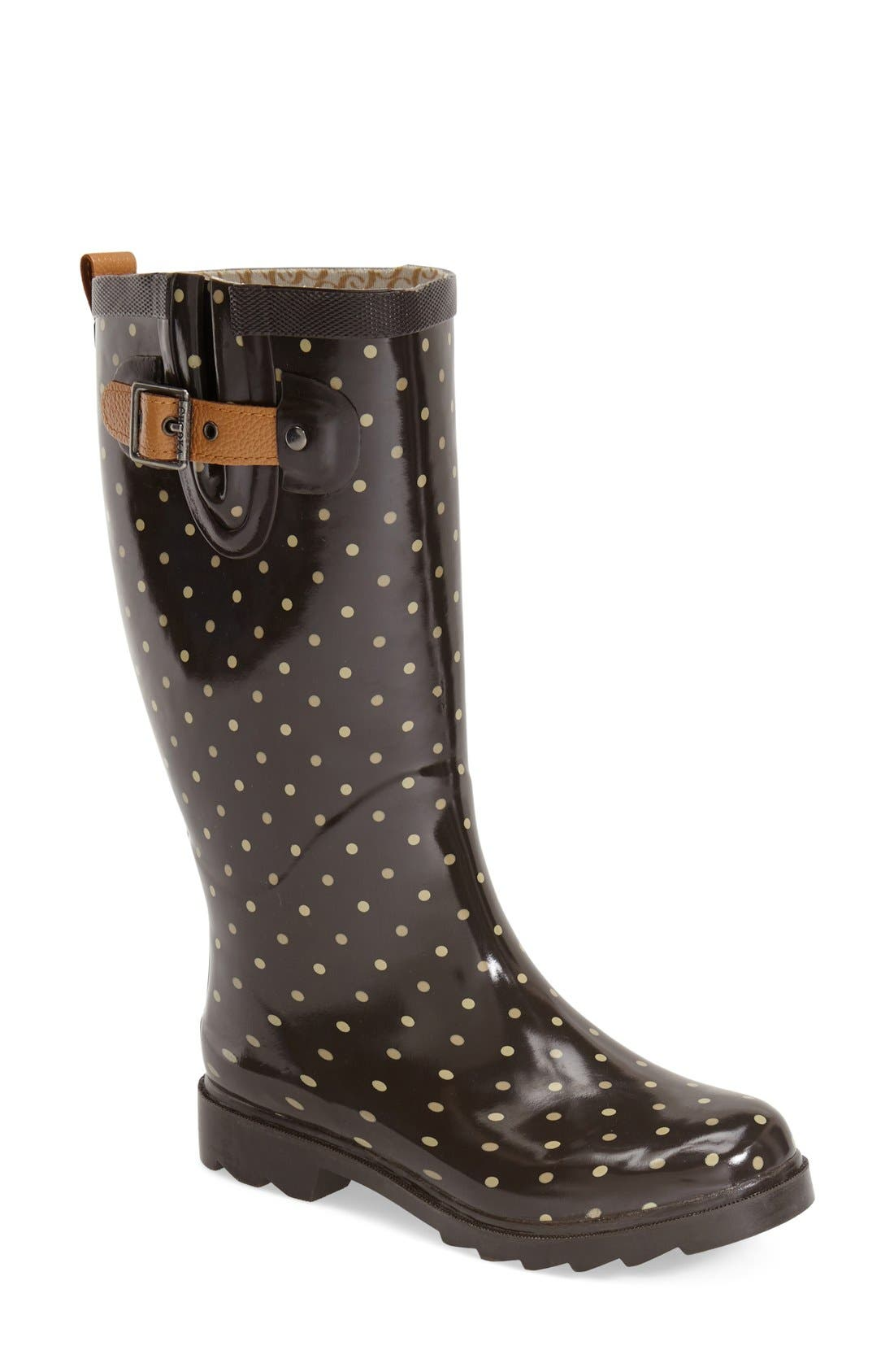 'Classic Dot' Rain Boot,                             Main thumbnail 1, color,                             200