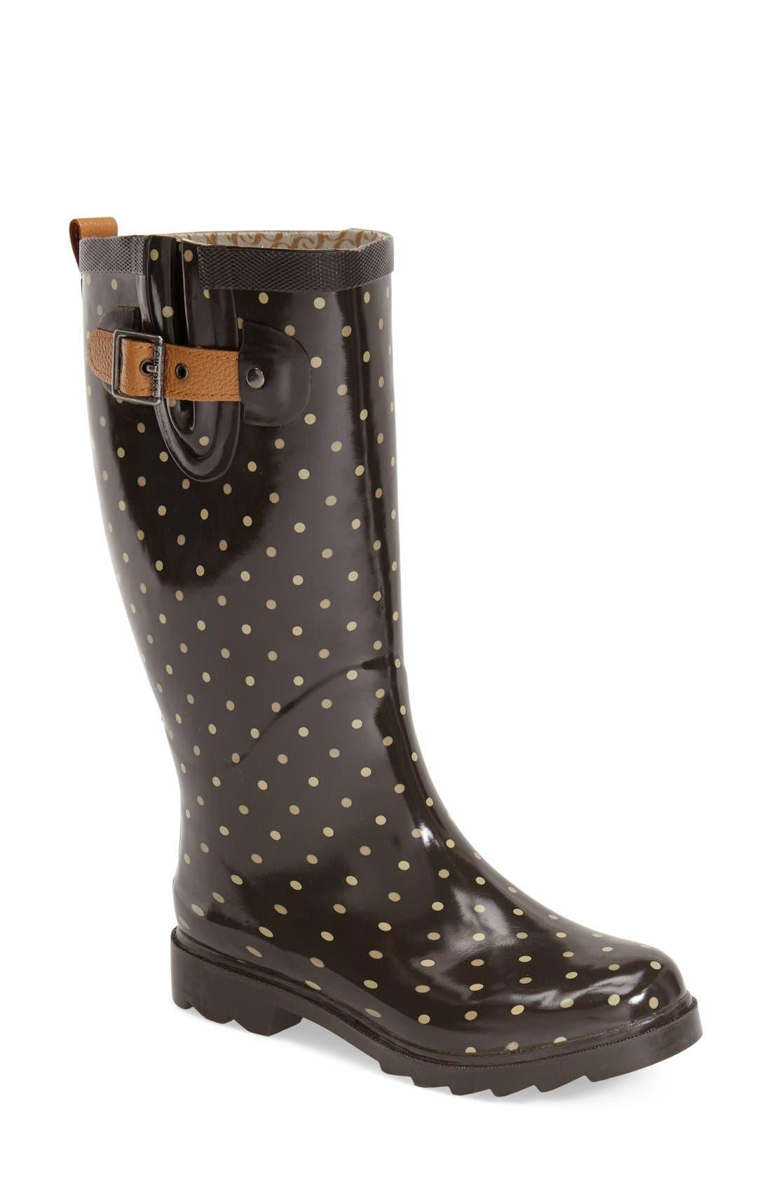 'Classic Dot' Rain Boot, Main, color, 200