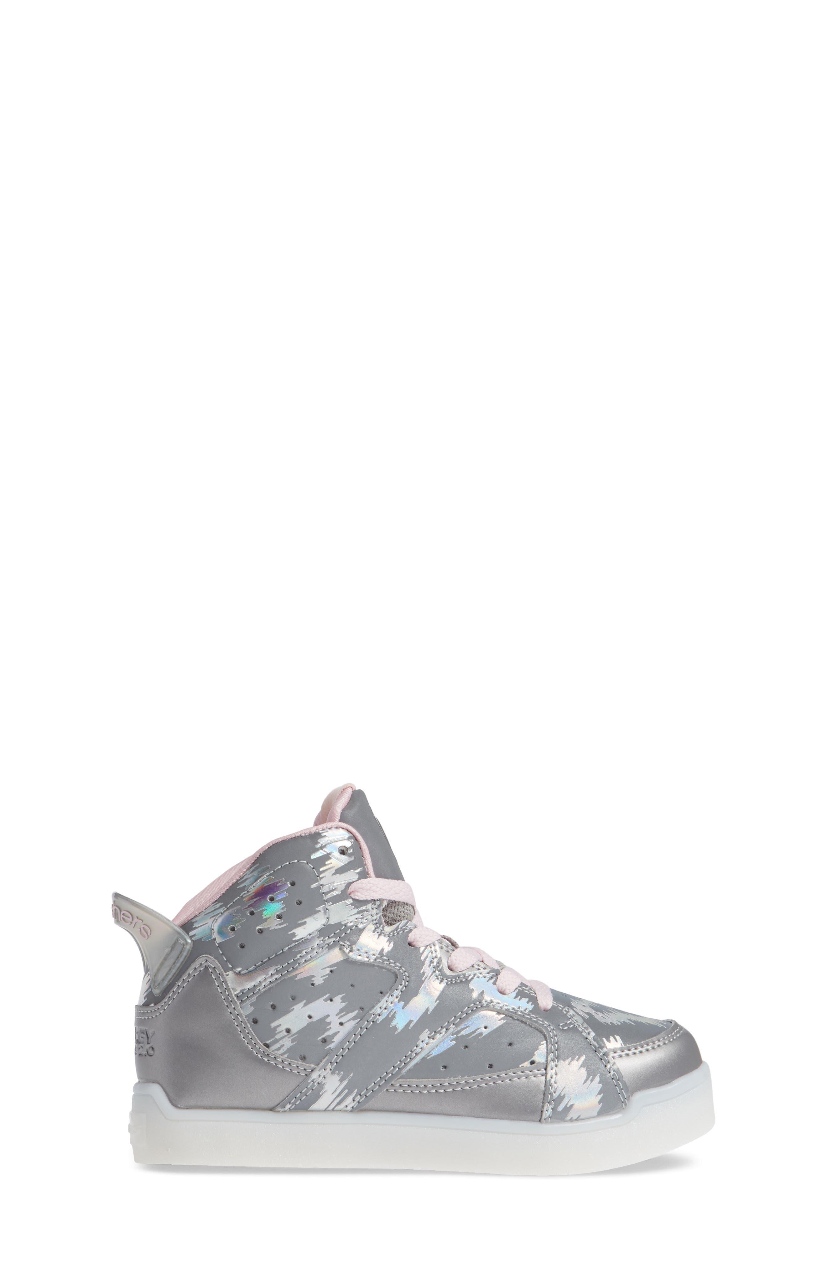 Energy Lights Pro Reflecti-Fab Sneaker,                             Alternate thumbnail 3, color,                             SILVER