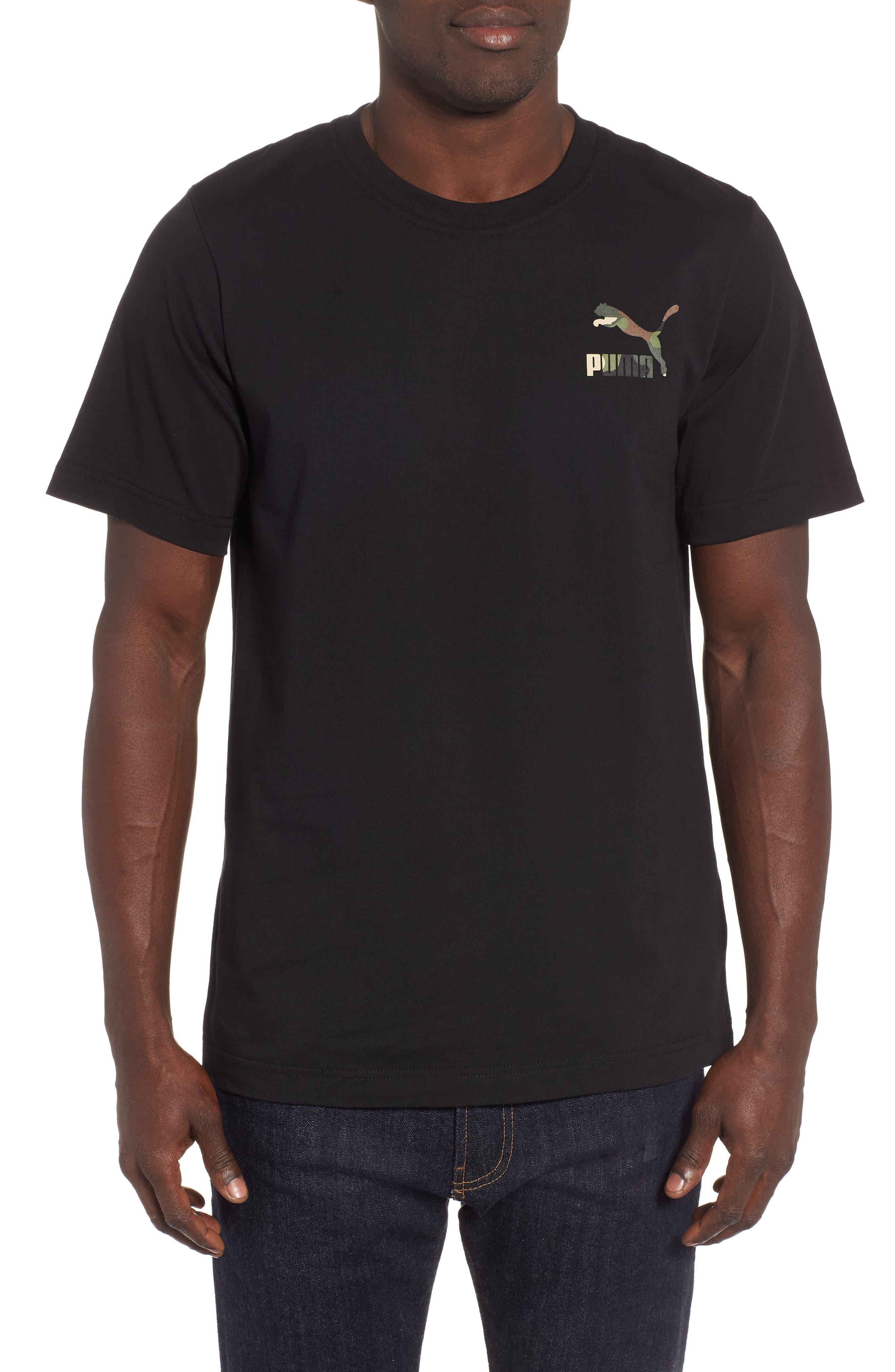 Wild Pack Logo Graphic T-Shirt,                         Main,                         color, PUMA BLACK