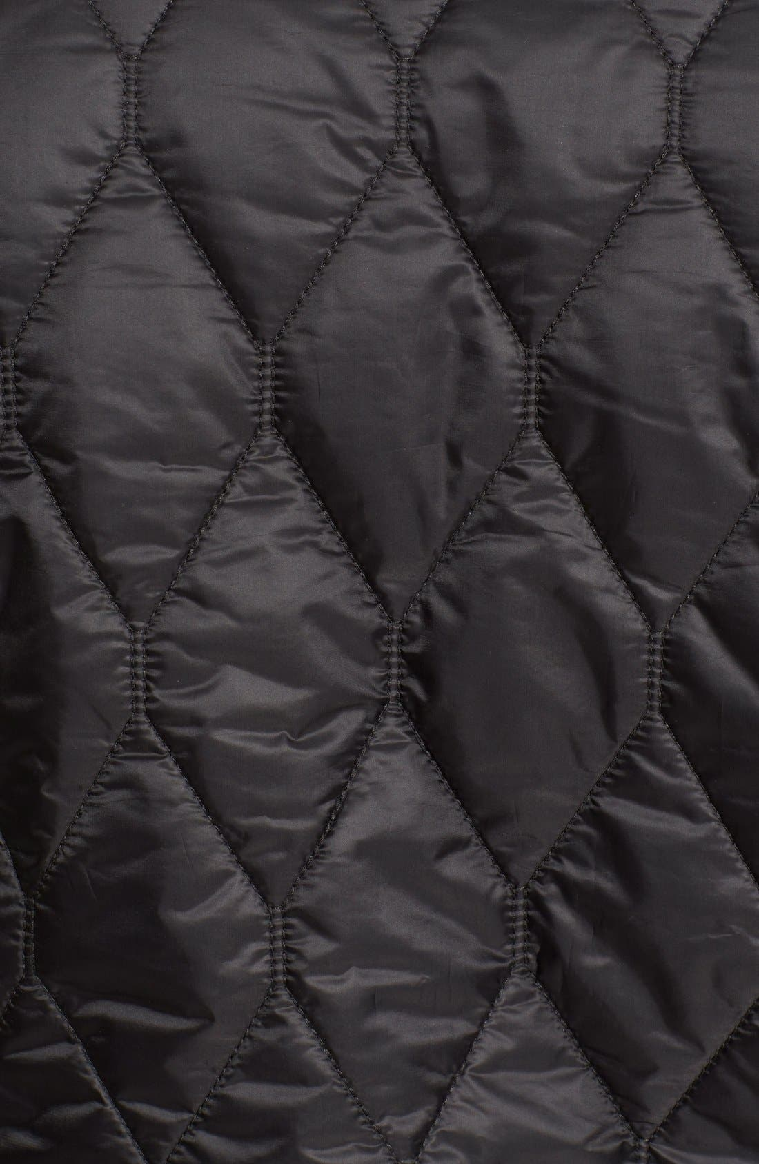 Gillington Water Resistant Quilted Jacket,                             Alternate thumbnail 7, color,                             BLACK