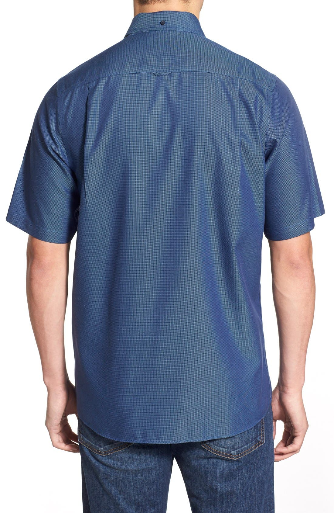 'Classic' Smartcare<sup>™</sup> Regular Fit Short Sleeve Cotton Sport Shirt,                             Alternate thumbnail 33, color,