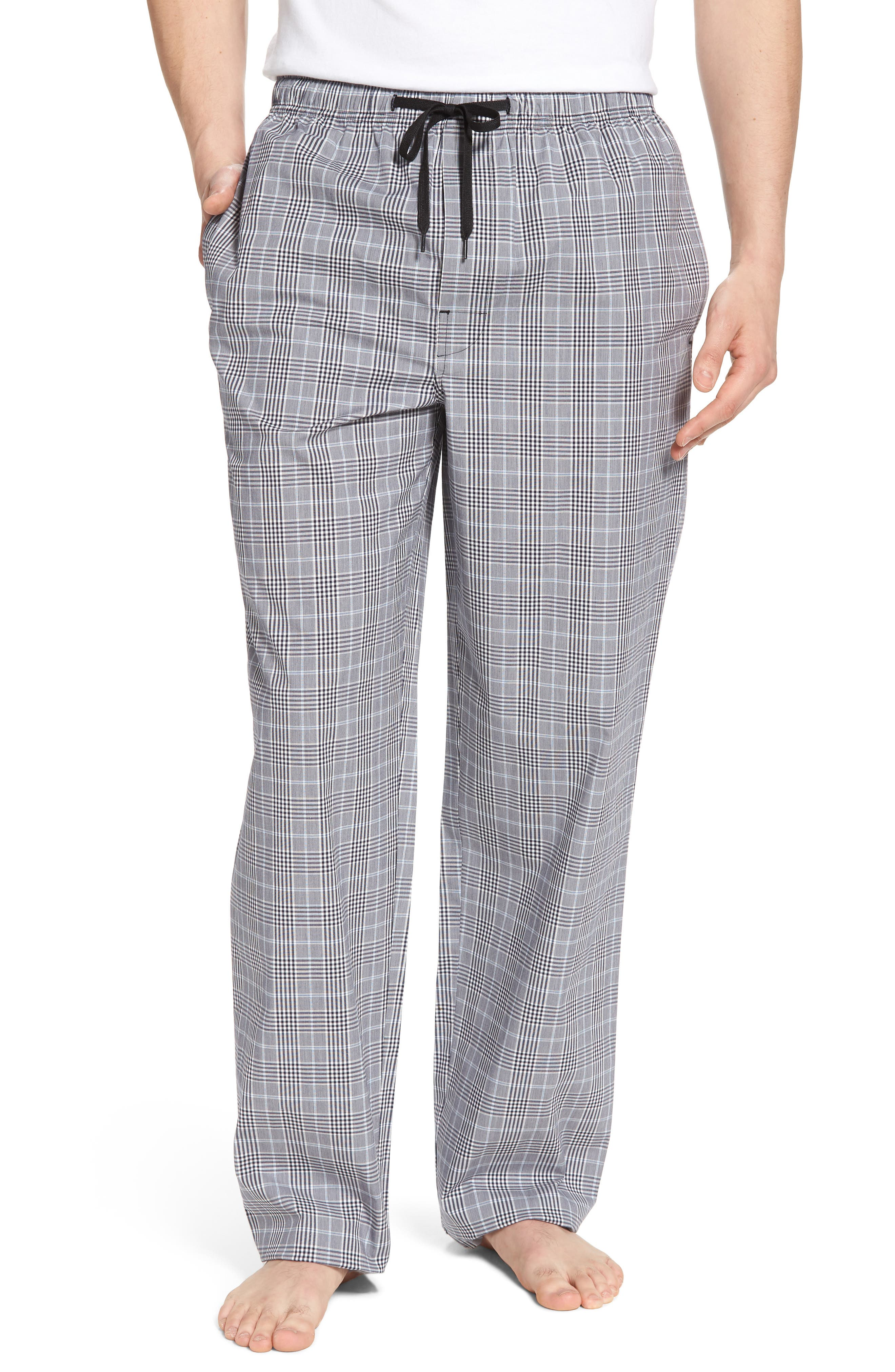 Charleston Lounge Pants,                         Main,                         color, BLACK PLAID