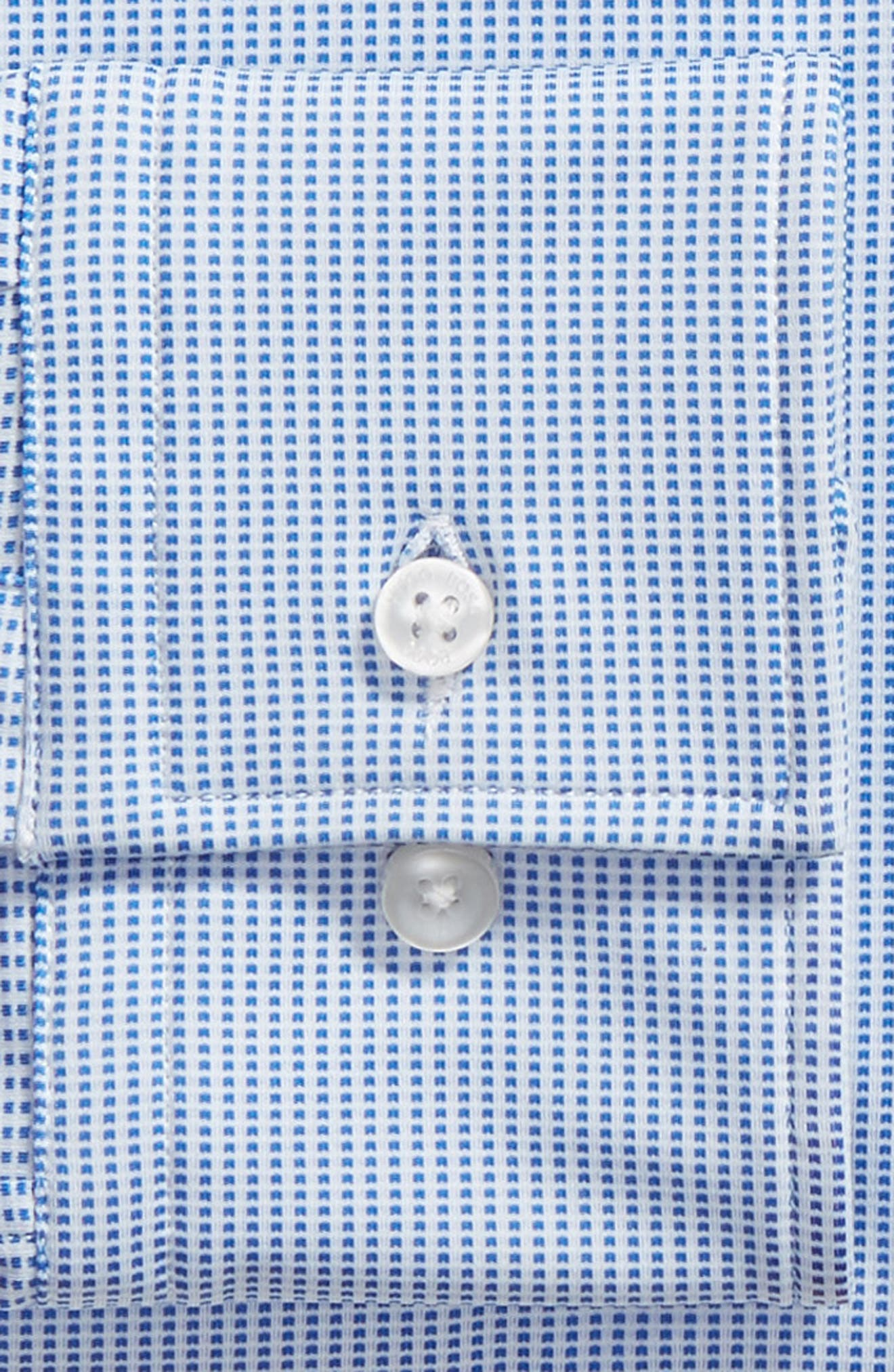 Jenno Slim Fit Stretch Check Dress Shirt,                             Alternate thumbnail 6, color,                             BLUE